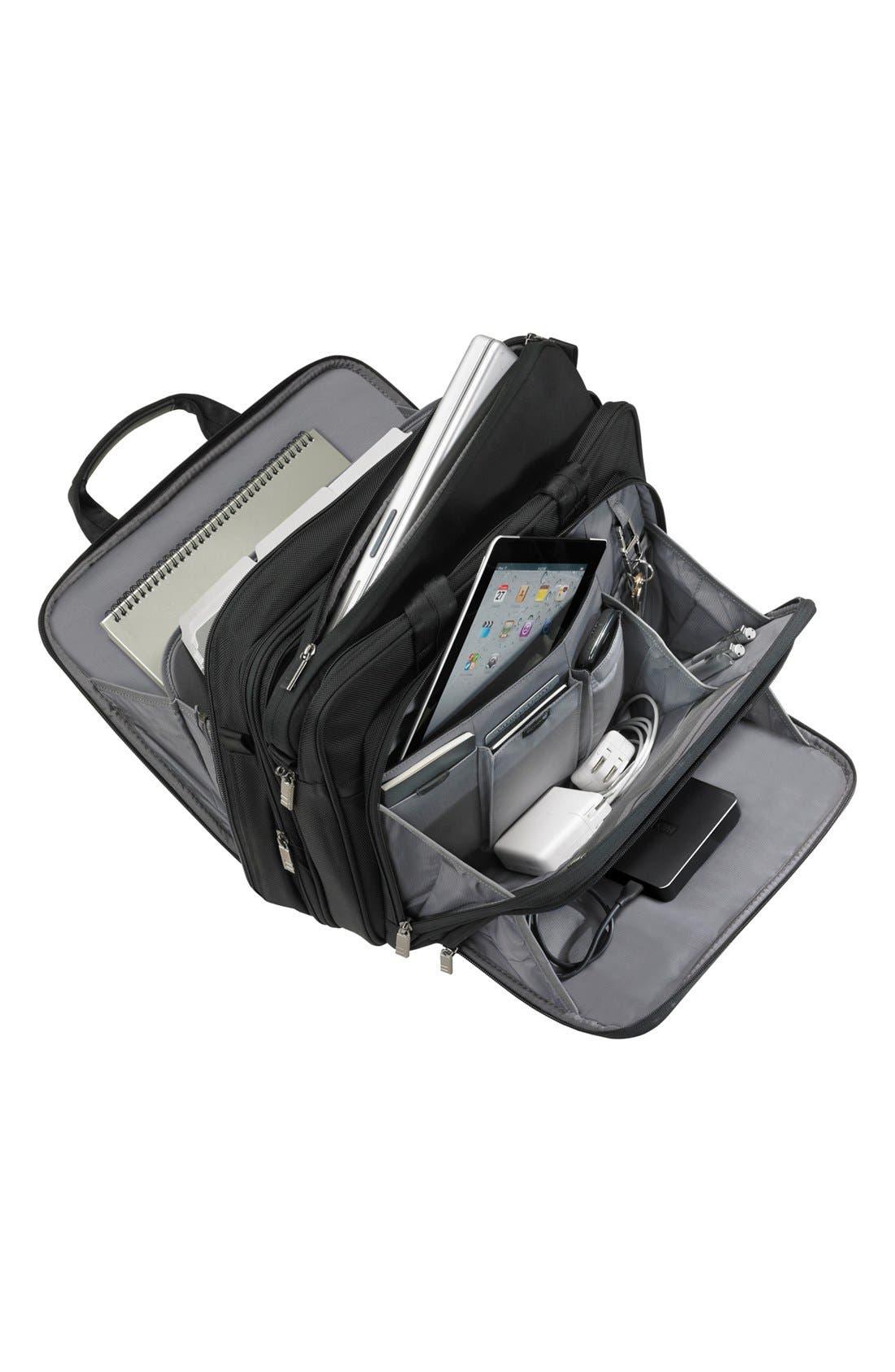 'Medium' Expandable Ballistic Nylon Briefcase,                             Alternate thumbnail 2, color,                             Black