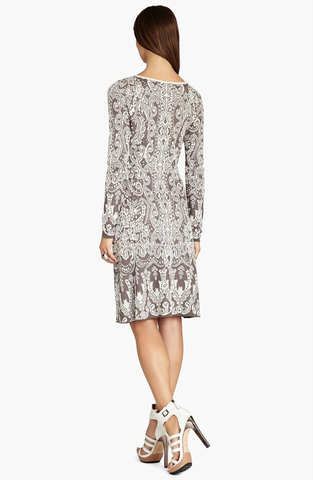 Alternate Image 2  - BCBGMAXAZRIA Intarsia Jacquard Sweater Dress