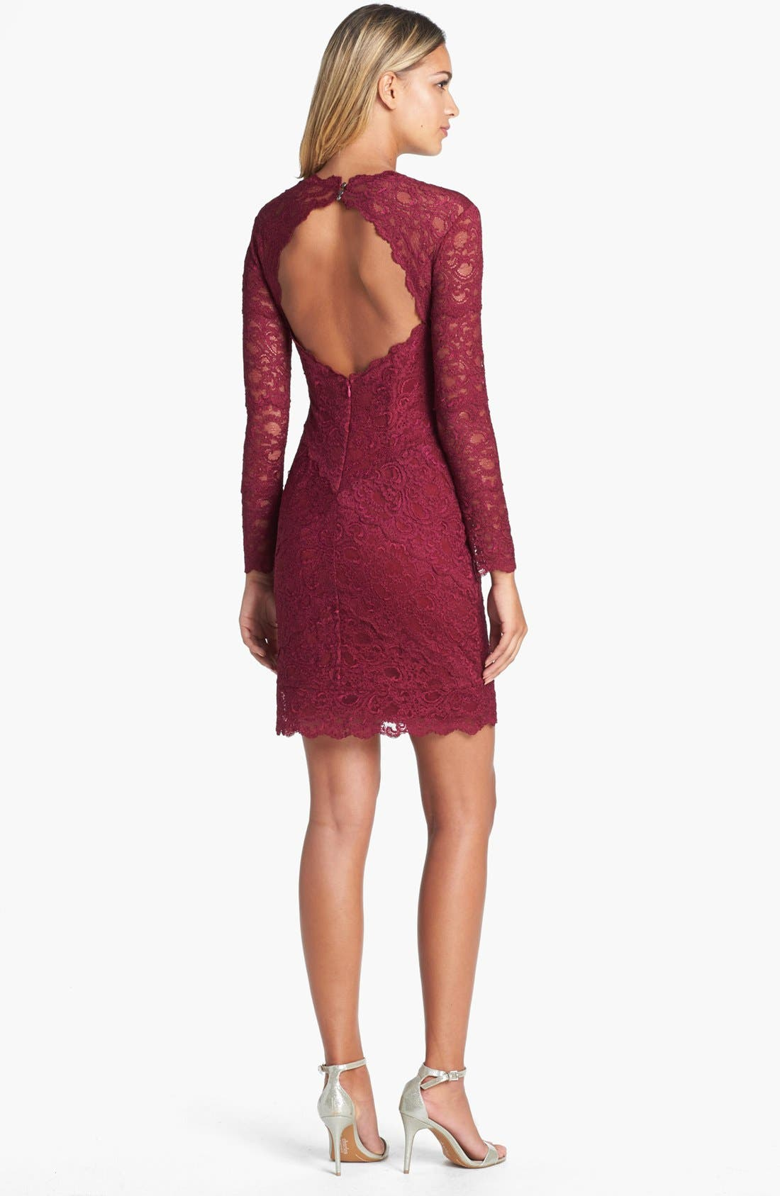 Alternate Image 2  - Nicole Miller Lace Sheath Dress