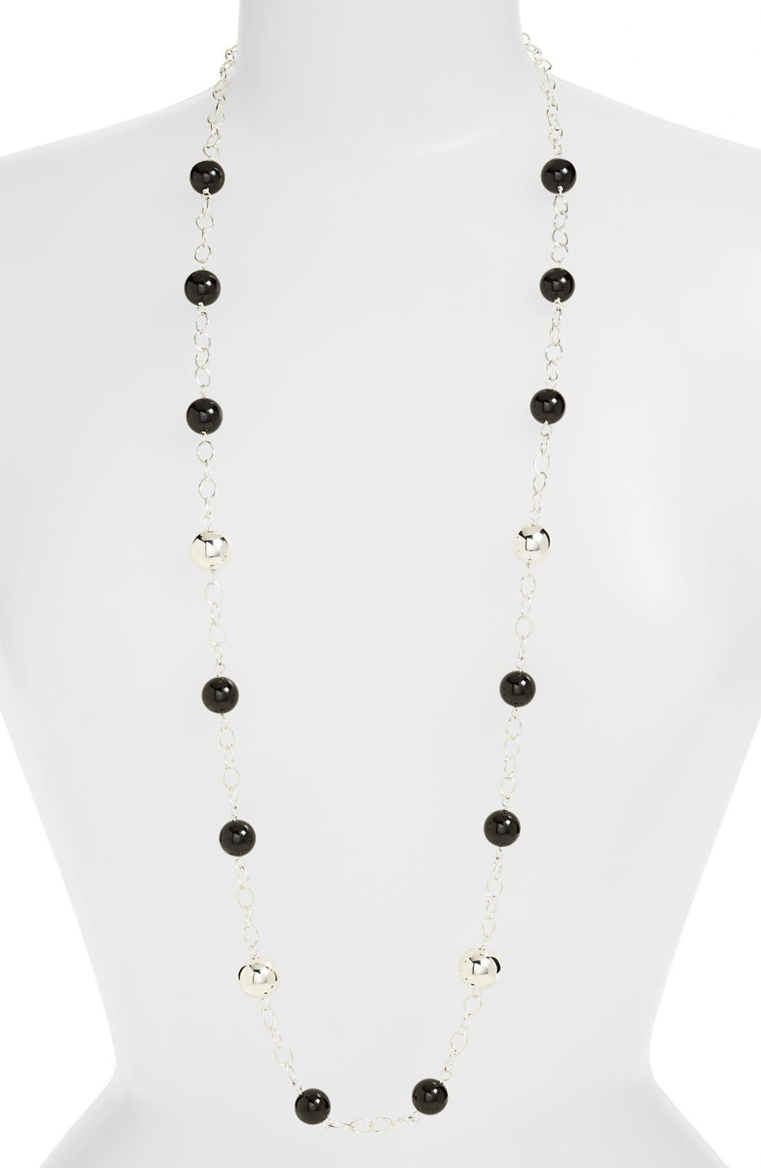 Main Image - Simon Sebbag 'Black & Silver' Long Station Necklace
