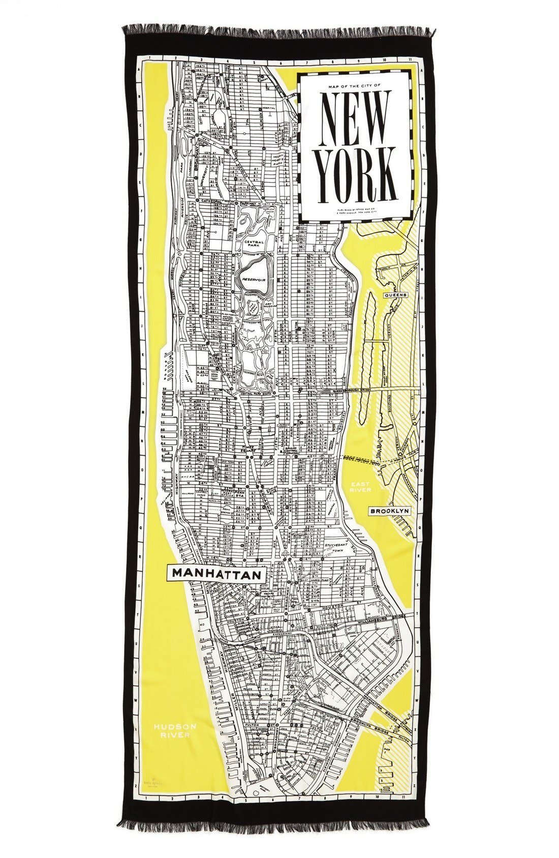 Alternate Image 2  - kate spade new york 'new york map' scarf