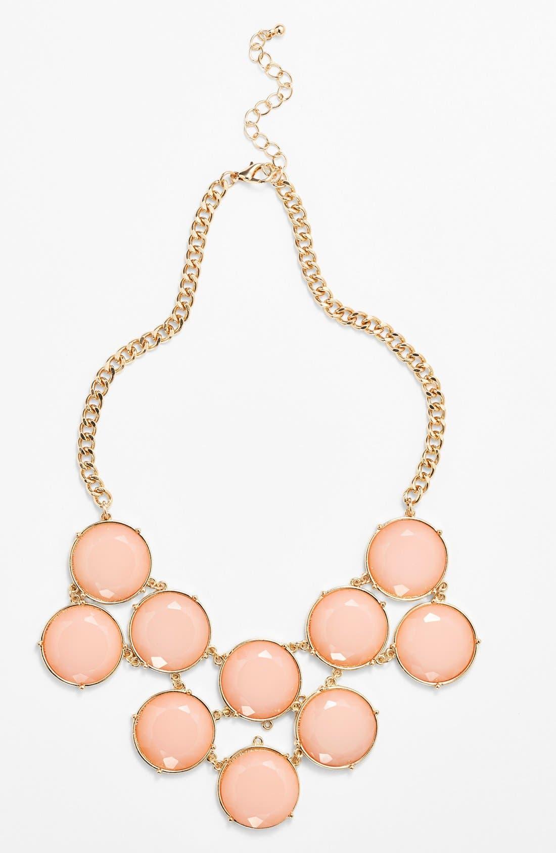 Main Image - BP. Circle Stone Statement Necklace (Juniors)