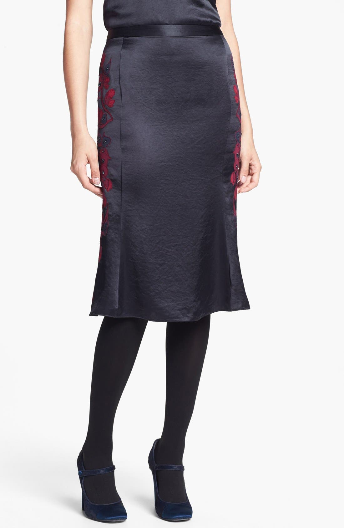 Alternate Image 1 Selected - Tory Burch 'Uma' Embellished Midi Skirt