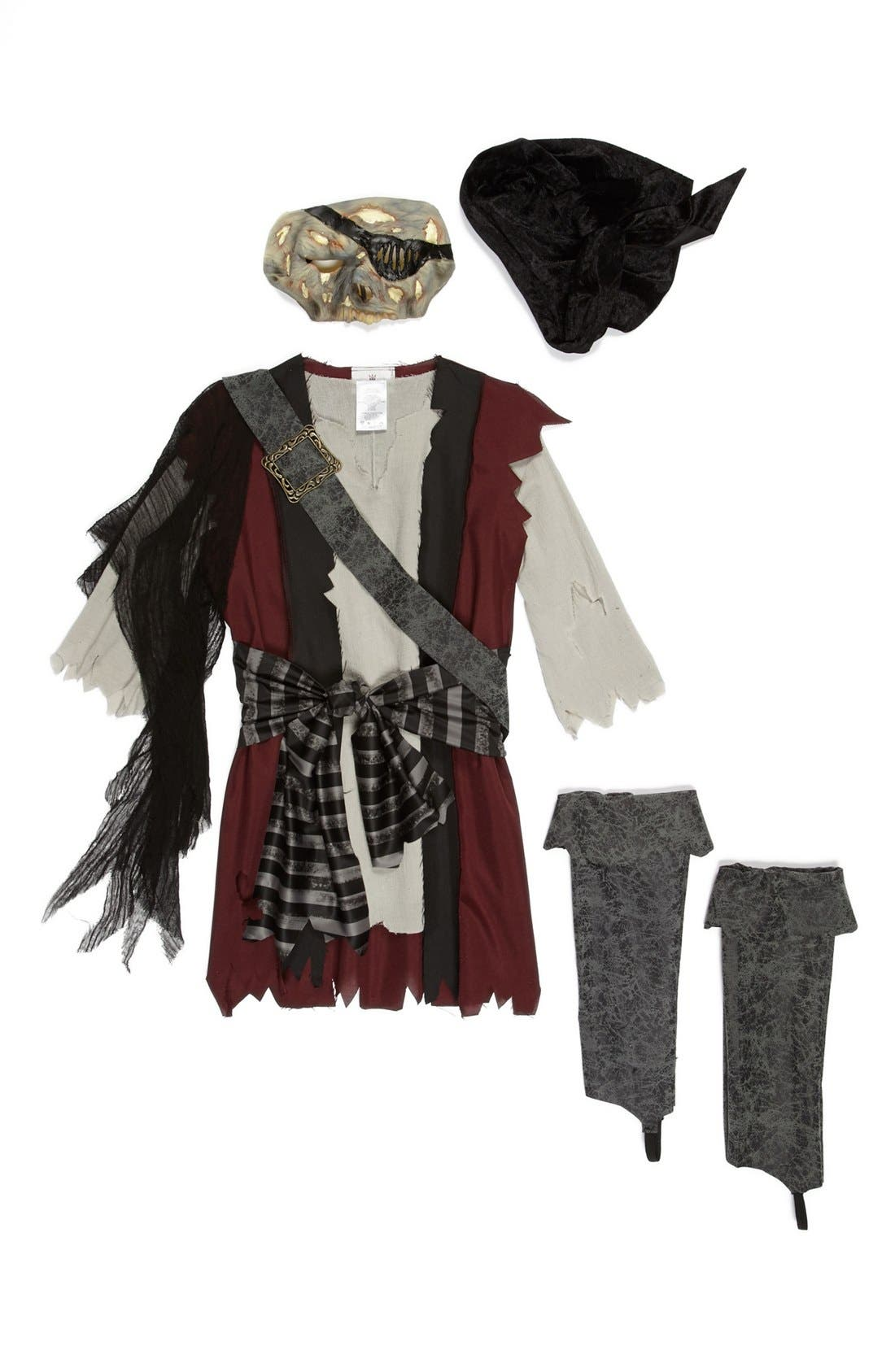 Alternate Image 2  - InCharacter Costumes 'Shipwrecked' Vest, Shirt & Mask (Little Boys & Big Boys)