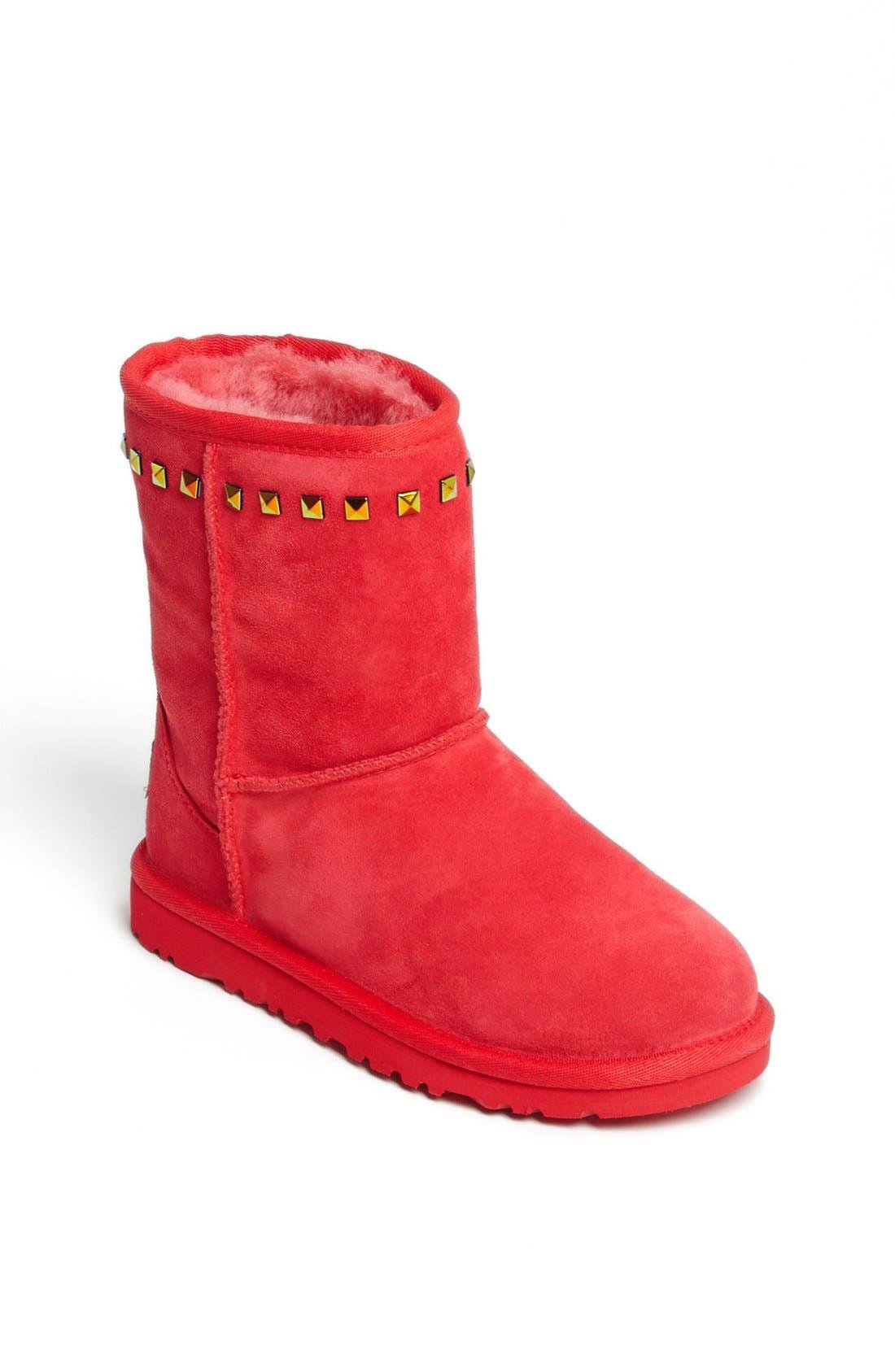 Alternate Image 1 Selected - UGG® Australia 'Classic Stud' Boot (Little Kid & Big Kid)