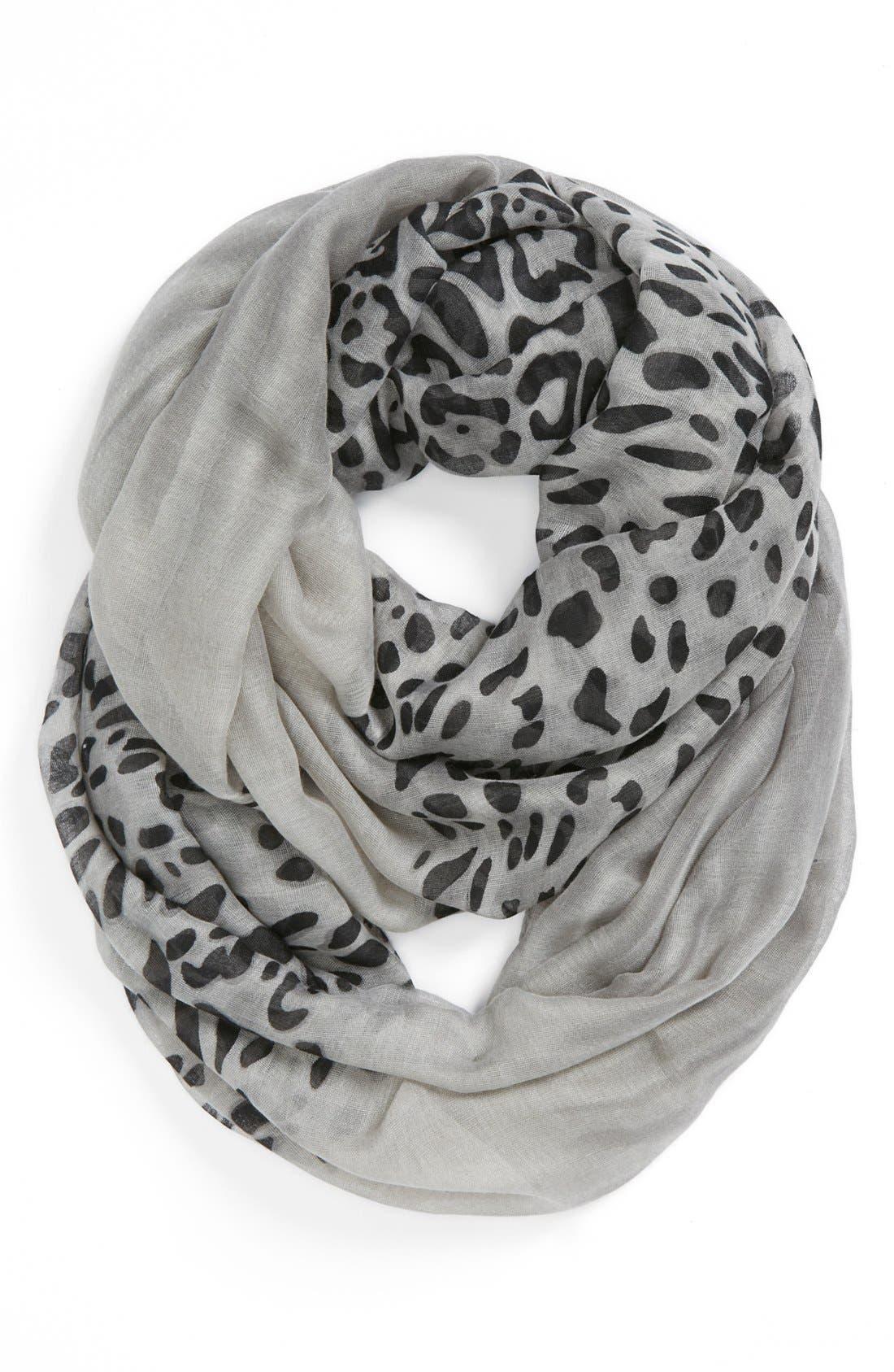 Main Image - BP. Leopard Print Infinity Scarf (Juniors)