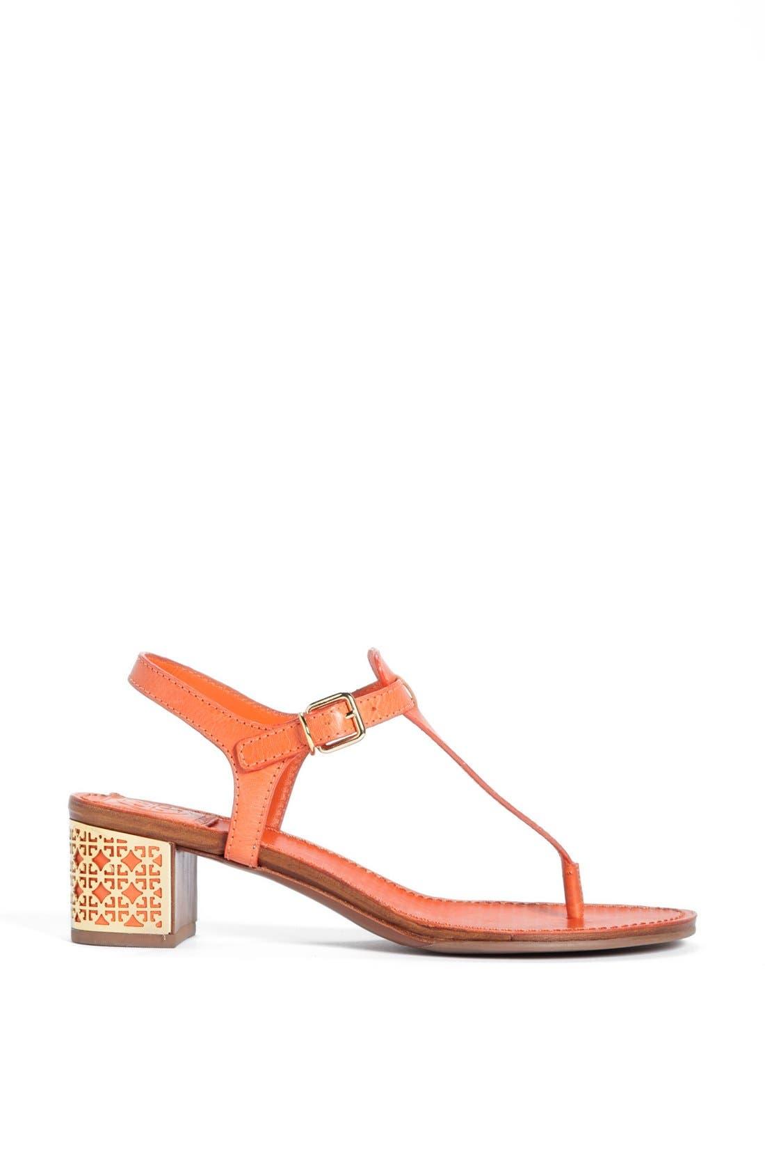 'Audra' Sandal,                             Alternate thumbnail 4, color,                             Tiger Lily