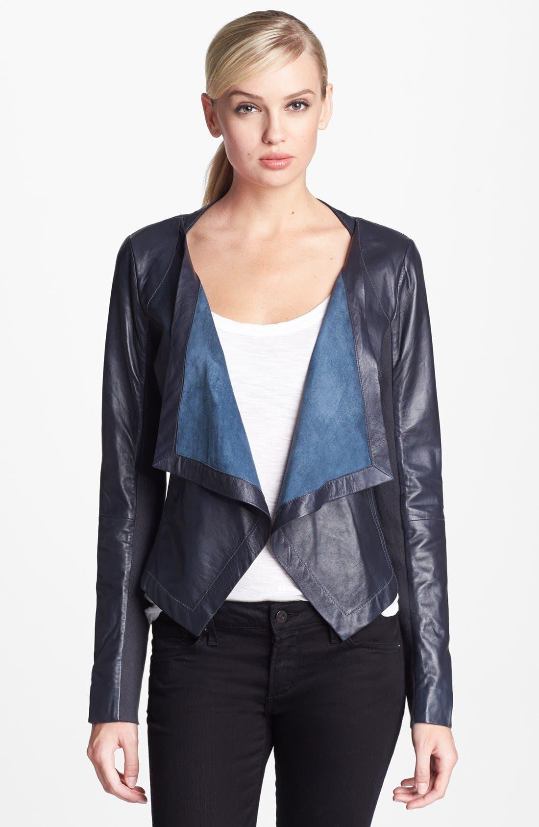 Alternate Image 2 Selected - Cascade Leather Jacket