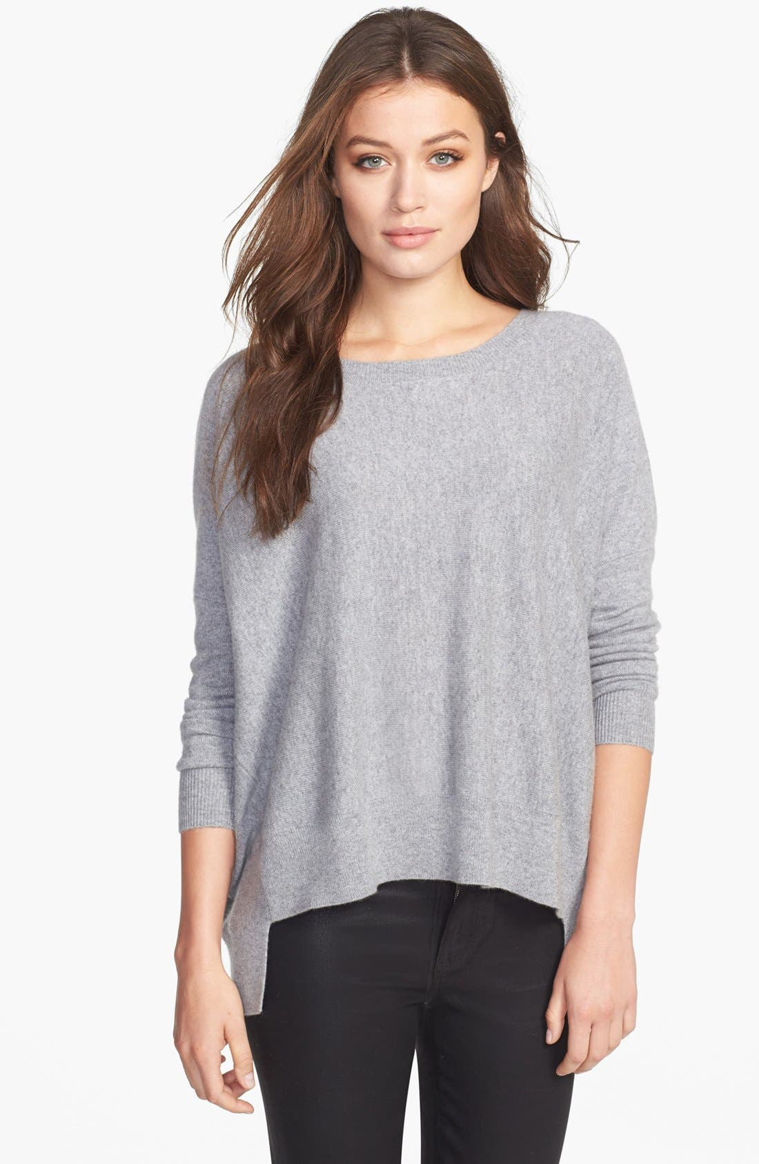 Main Image - Eileen Fisher Ballet Neck Cashmere Sweater (Regular & Petite)
