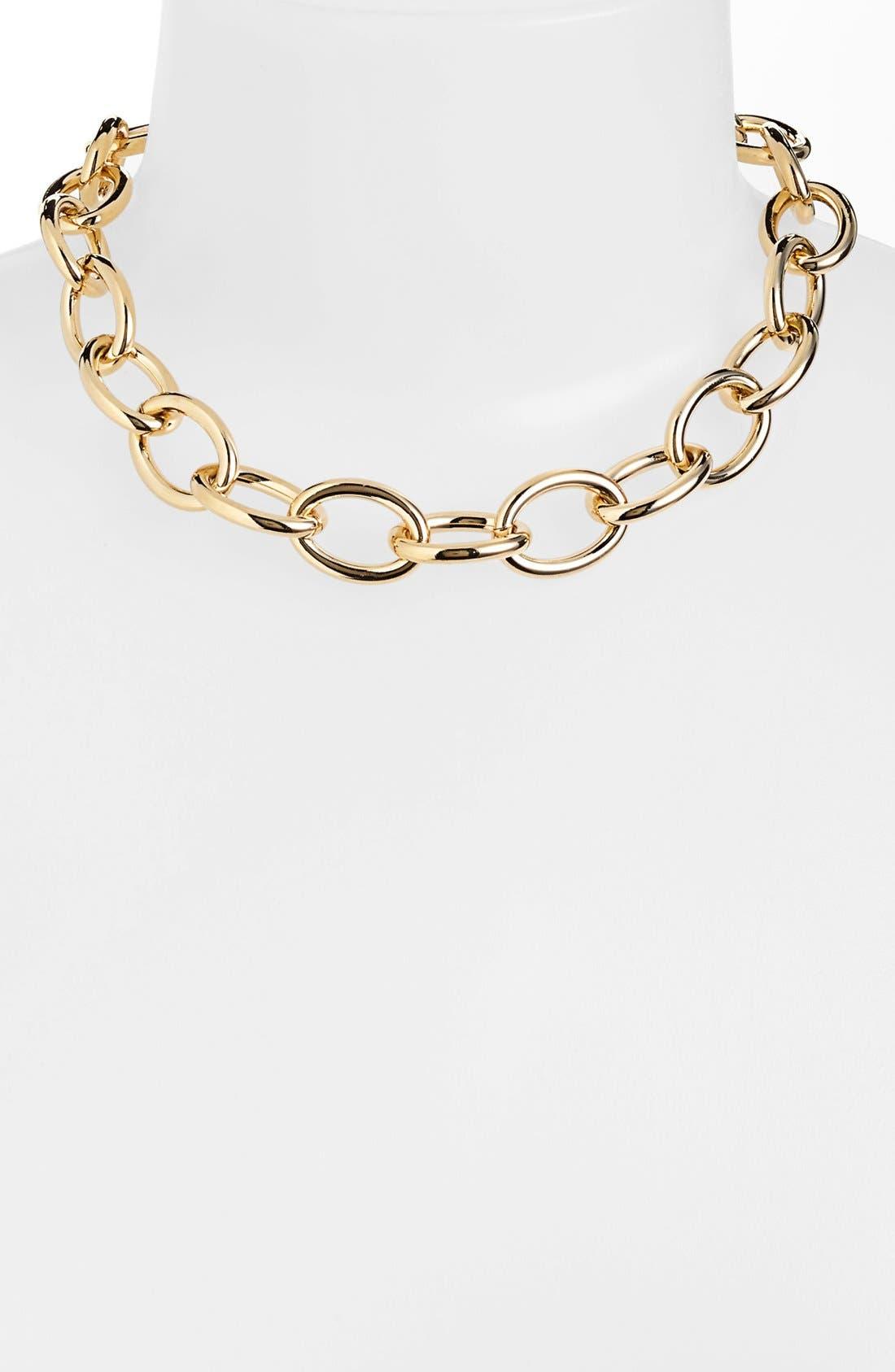 Alternate Image 1 Selected - Lauren Ralph Lauren Oval Link Necklace