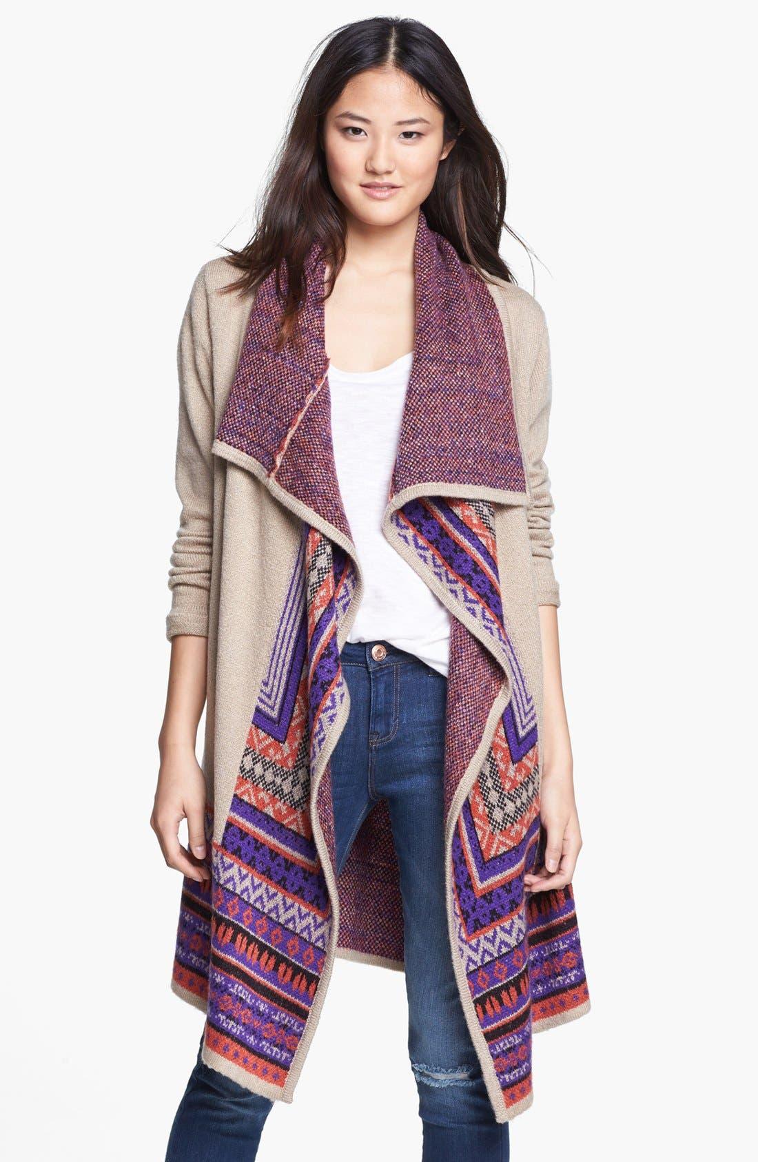 Main Image - kensie Tissue Knit Cardigan