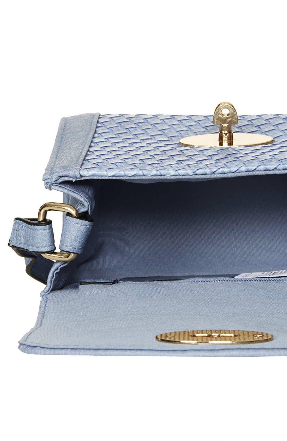 Alternate Image 3  - Topshop Embossed Mini Crossbody Bag