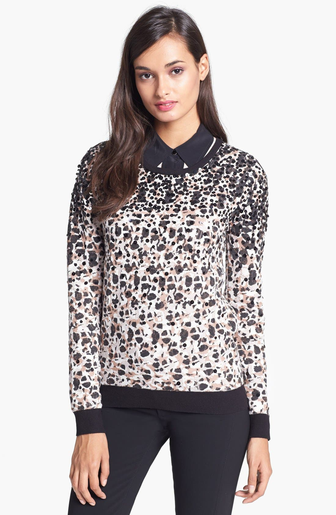 Alternate Image 1 Selected - MARC BY MARC JACOBS 'Isa' Sequin Crewneck Sweater