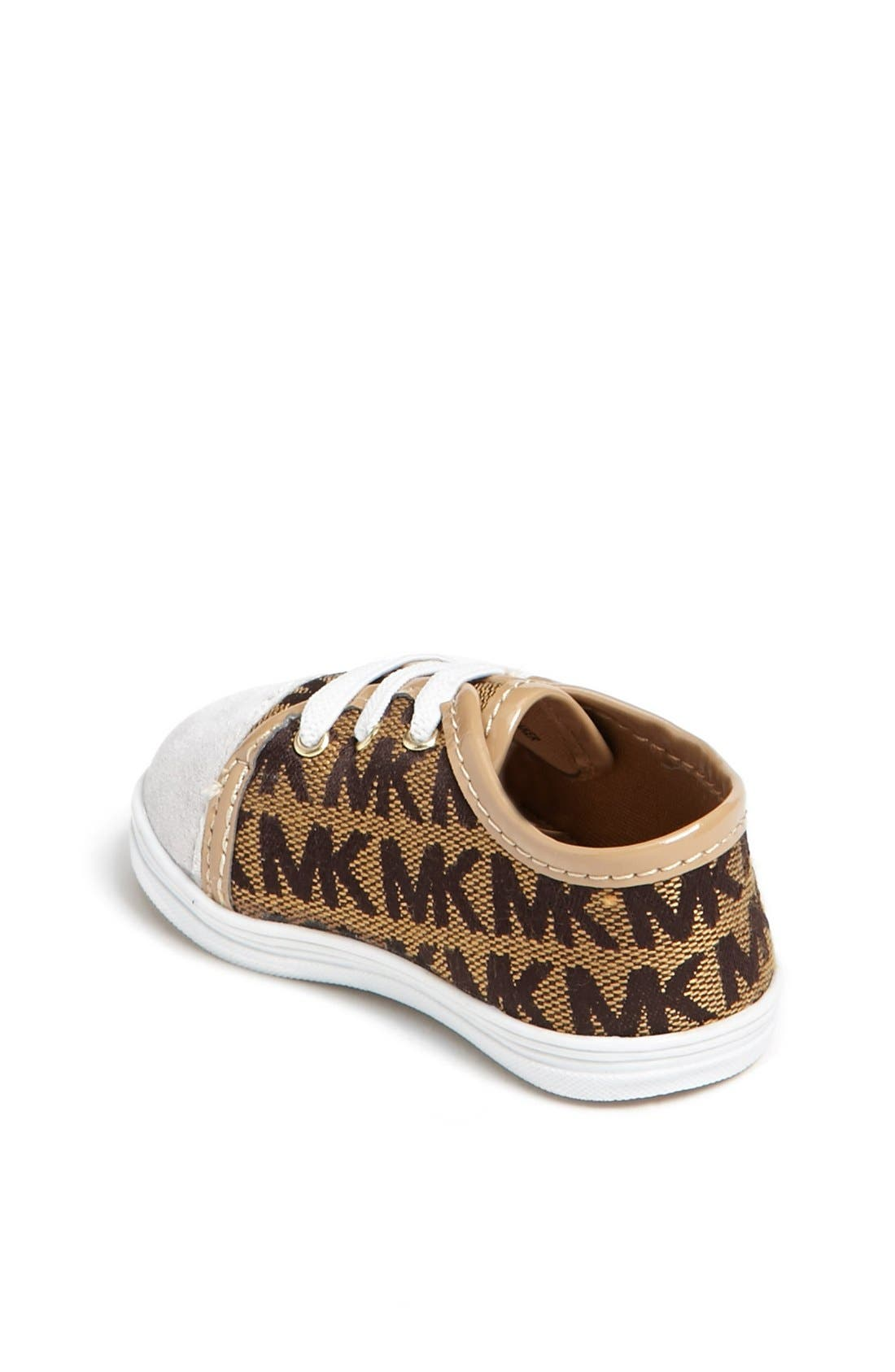 Alternate Image 2  - MICHAEL Michael Kors 'Baby Monogram' Crib Shoe (Baby)