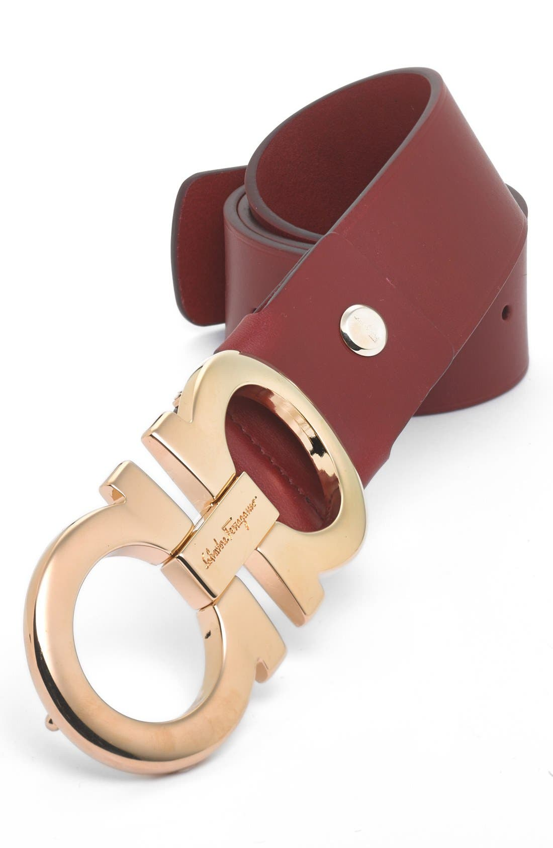 Calfskin Belt,                         Main,                         color, Red