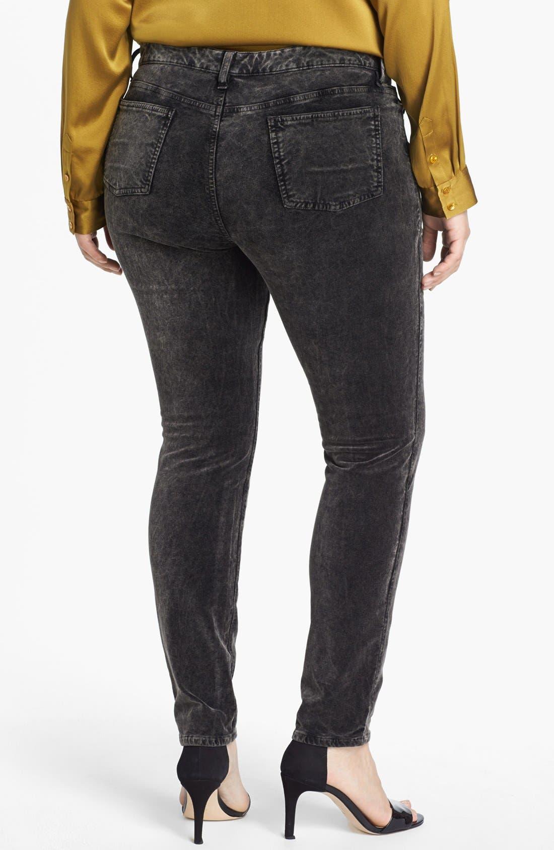 Alternate Image 2  - Eileen Fisher Velveteen Stretch Jeans (Plus Size)