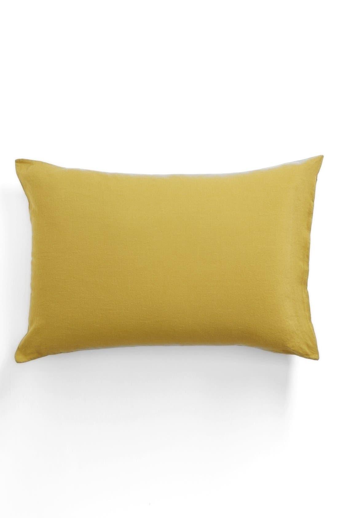 Main Image - Merci Washed Linen Pillowcase