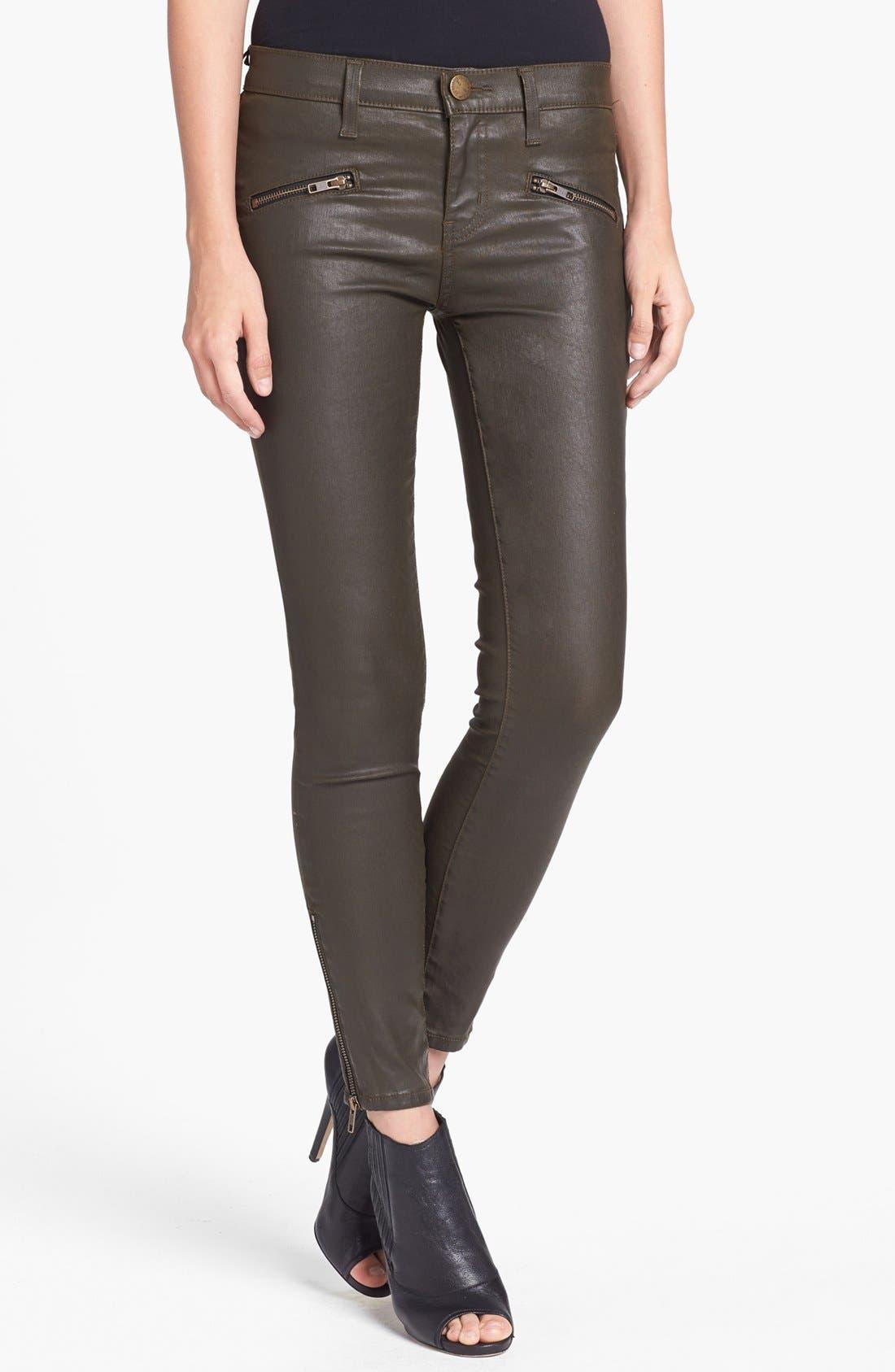 Main Image - Current/Elliott 'The Soho' Coated Skinny Jeans