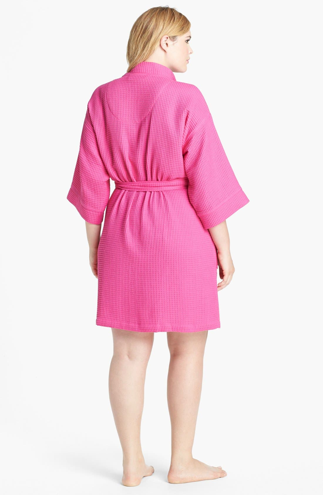 Alternate Image 2  - Nordstrom Waffle Cotton Robe (Plus Size)