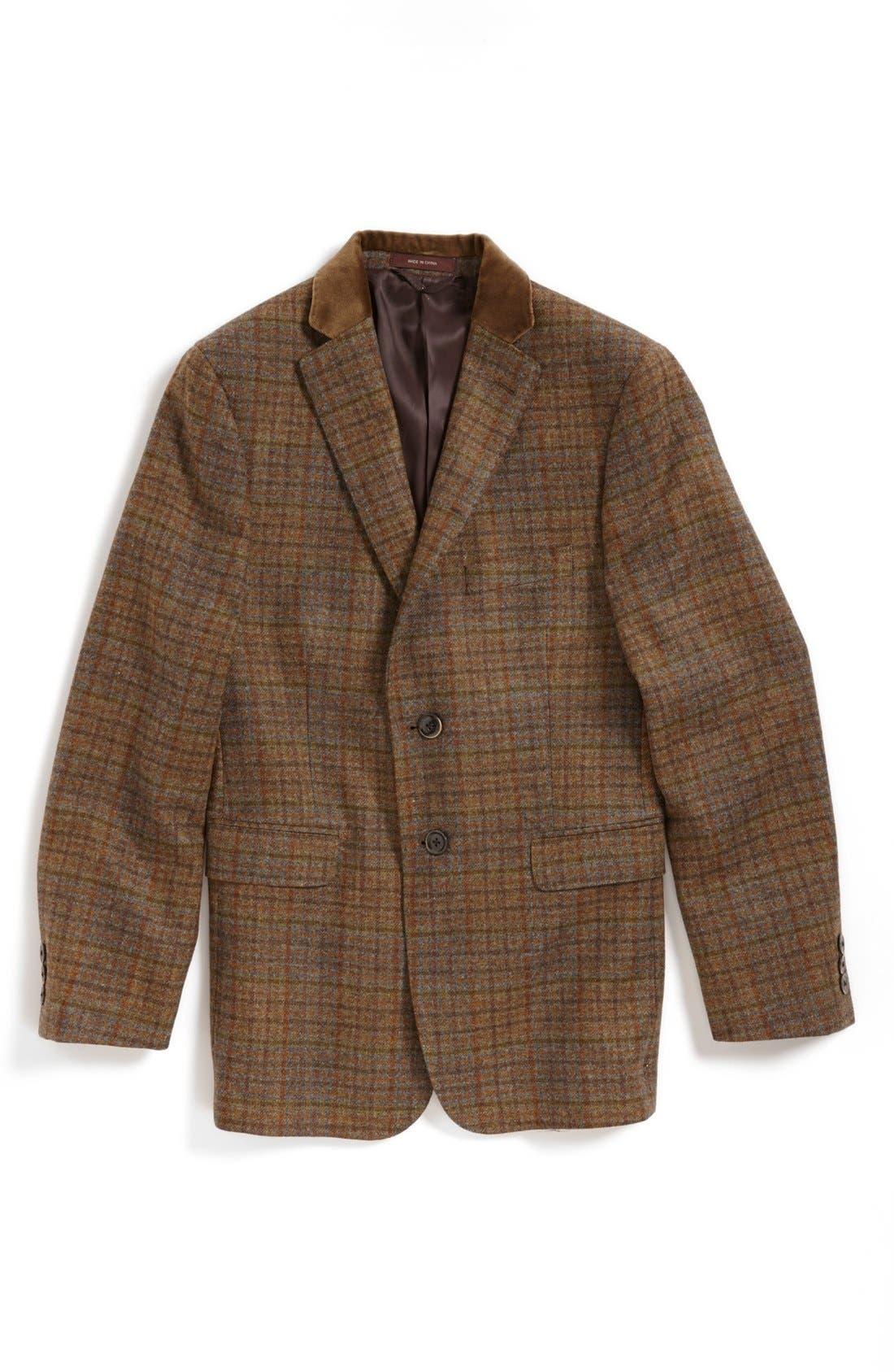 Main Image - Hickey Freeman Wool Sport Coat (Big Boys)