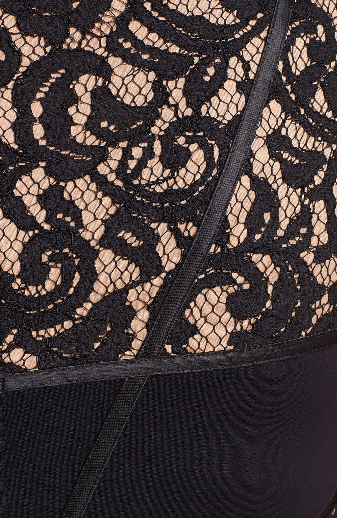 Alternate Image 3  - Tadashi Shoji Lace Inset Sheath Dress (Plus Size)
