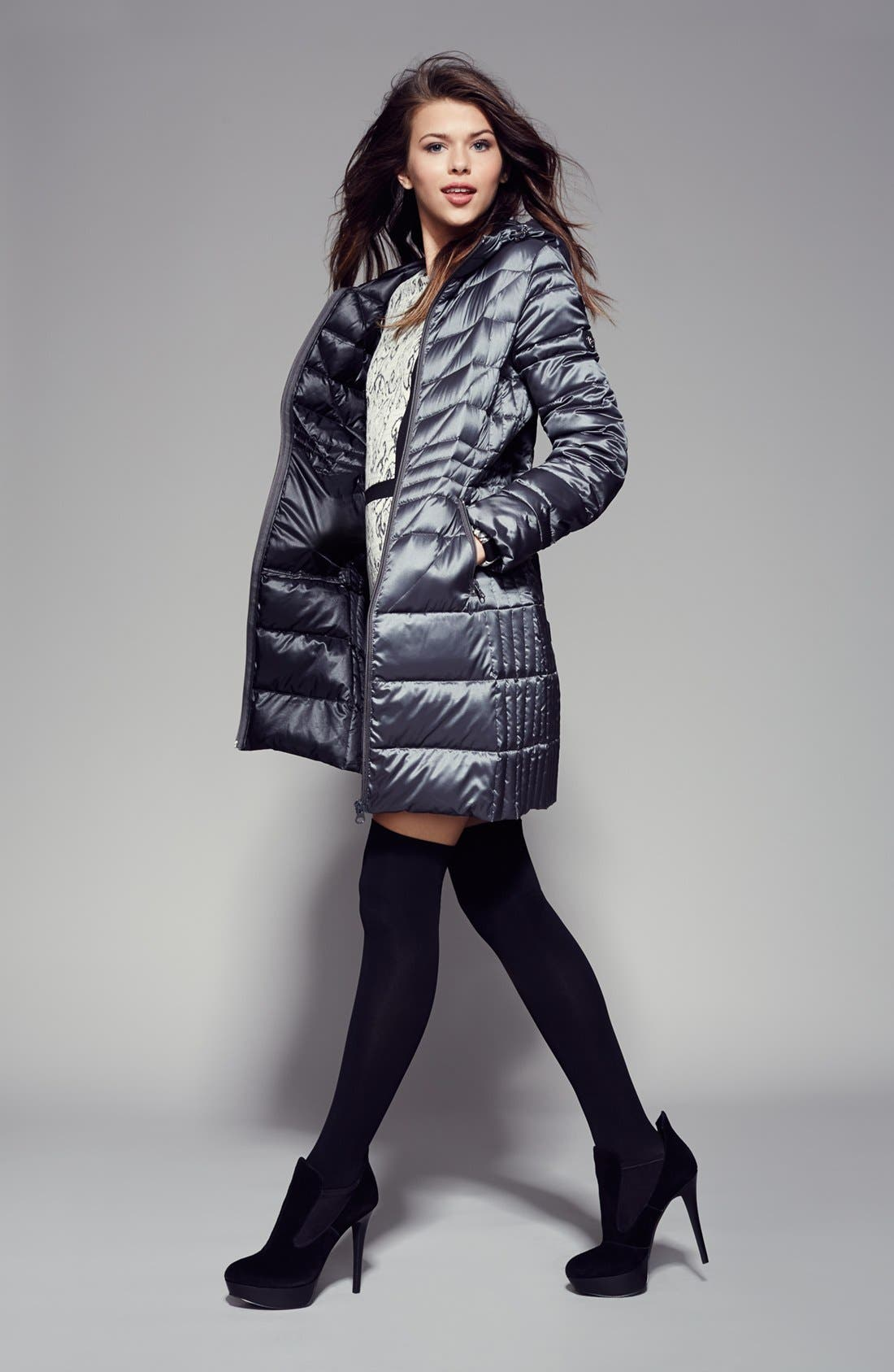 Alternate Image 4  - Bernardo Hooded Packable Goose Down Walking Coat (Regular & Petite) (Nordstrom Exclusive)