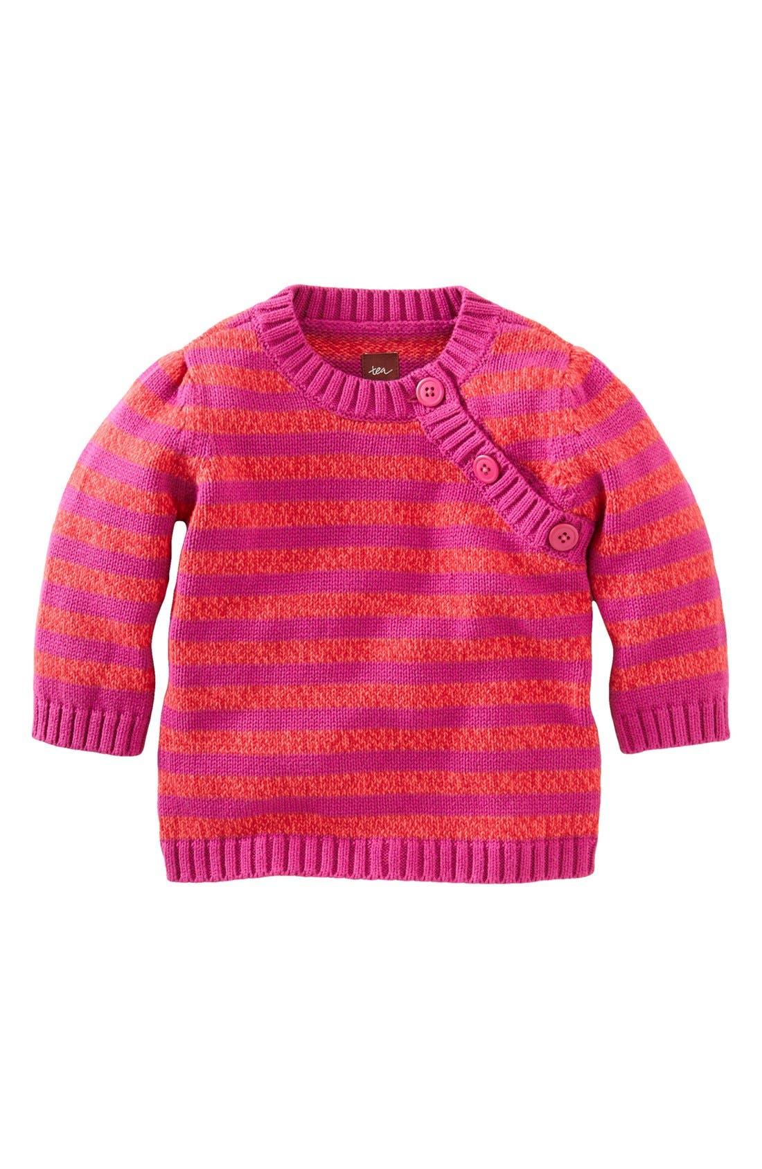 Alternate Image 1 Selected - Tea Collection Marled Stripe Sweater (Little Girls & Big Girls)