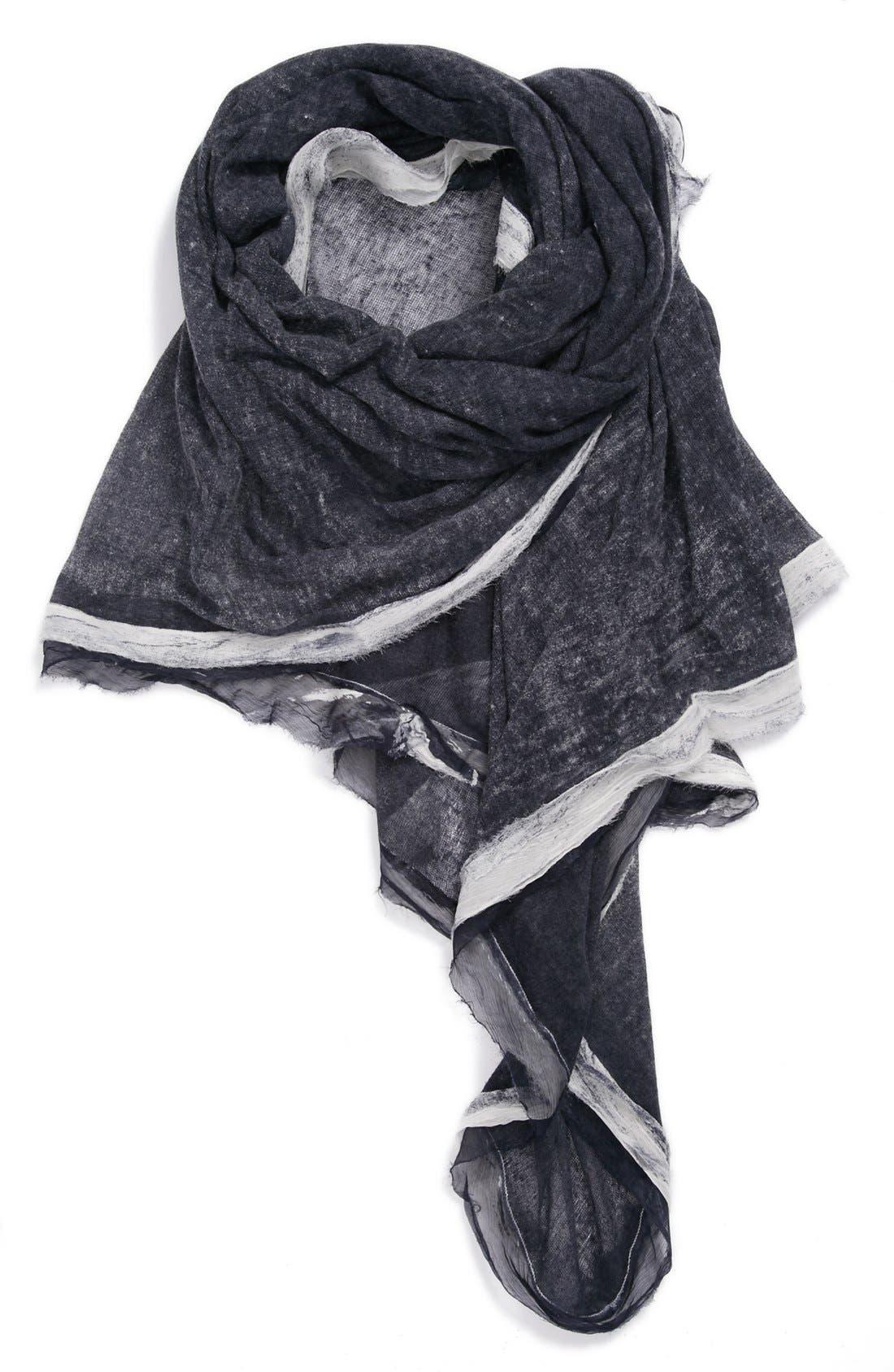 Silk & Cashmere Wrap,                         Main,                         color, Midnight