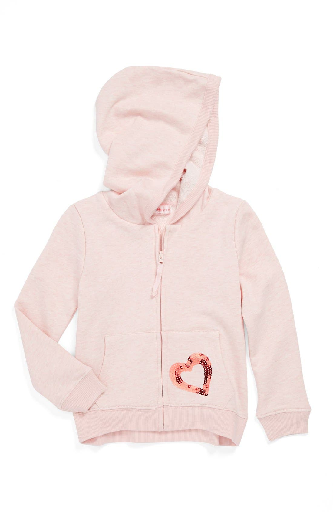 Alternate Image 1 Selected - Design History Zip Hoodie (Toddler Girls)