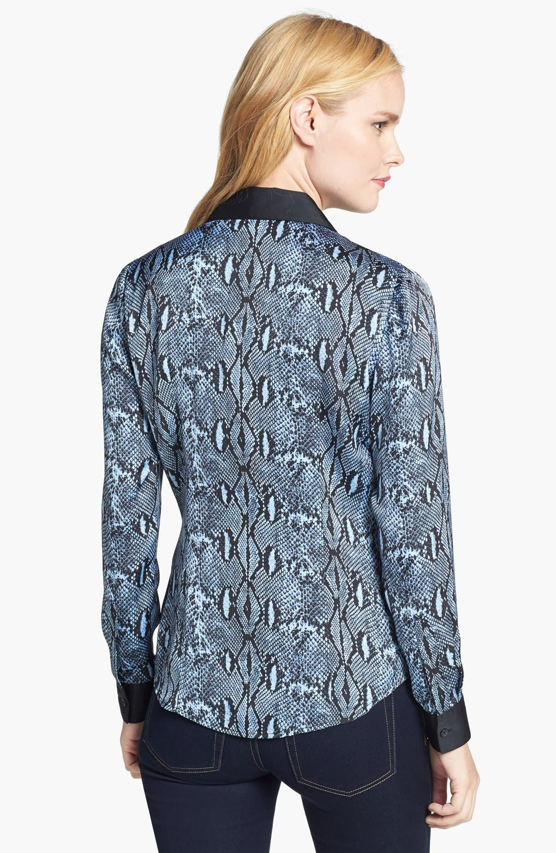 Alternate Image 2  - MICHAEL Michael Kors Contrast Trim Print Blouse