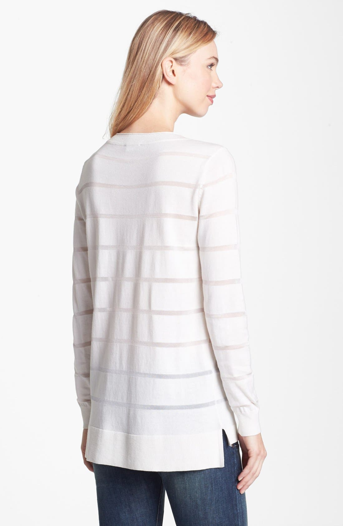 Alternate Image 2  - Vince Camuto Illusion Stripe Sweater (Regular & Petite)