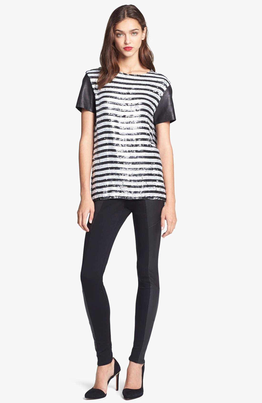 Alternate Image 3  - Rachel Zoe Stripe Sequin Top