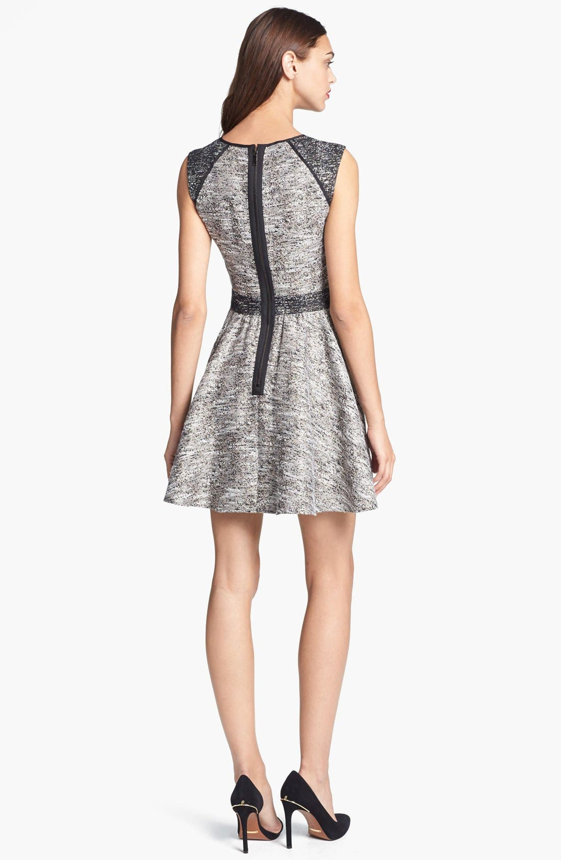 Alternate Image 2  - Rachel Zoe 'Marley' Flared Metallic Tweed Dress