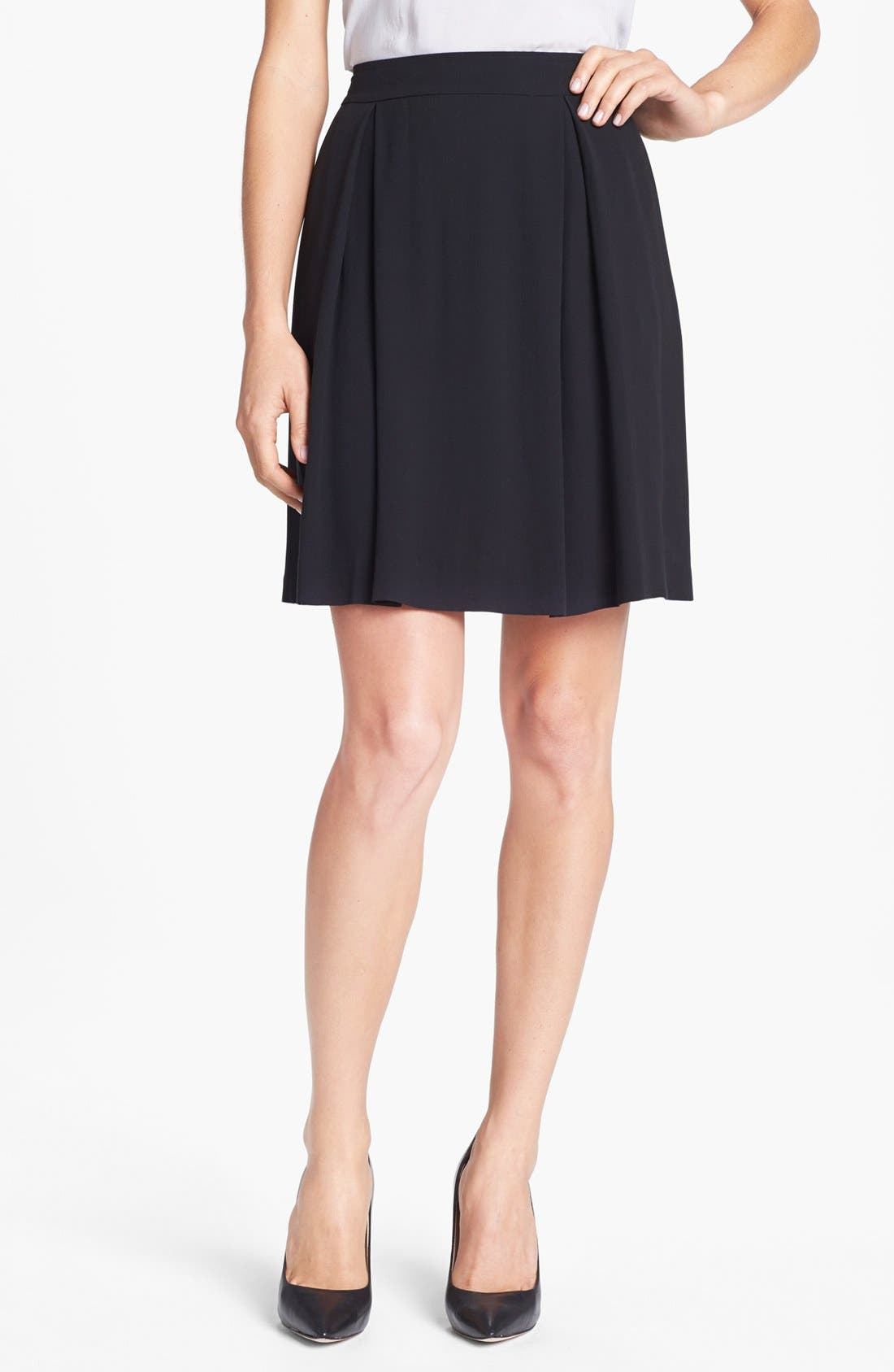 Main Image - Eileen Fisher Textured Silk Georgette Skirt