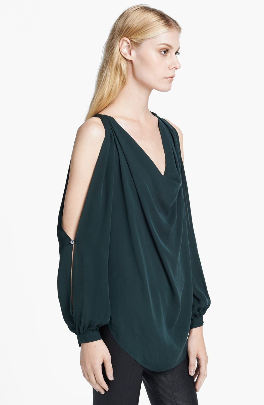 Alternate Image 3  - Haute Hippie Cowl Neck Cold Shoulder Blouse