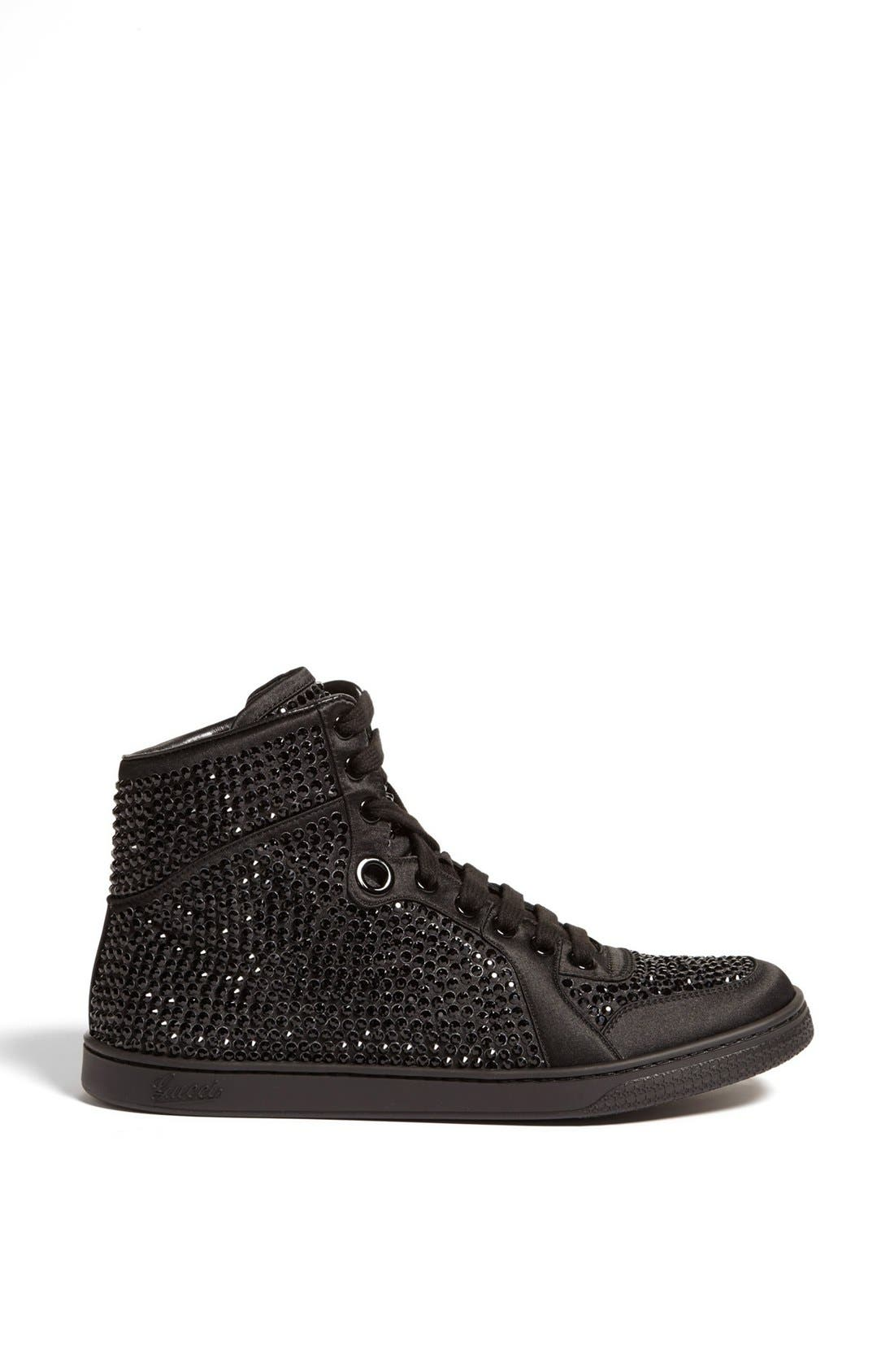 Alternate Image 4  - Gucci 'Coda' Crystal Stud High Top Sneaker