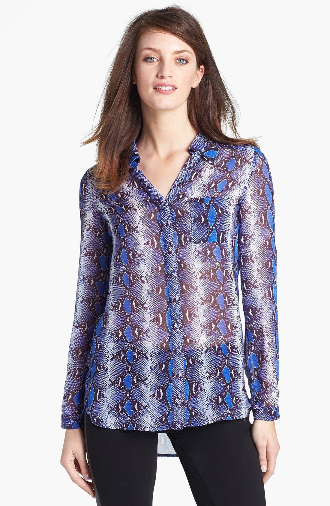 Alternate Image 1 Selected - Diane von Furstenberg 'Lorelei' Print Silk Shirt