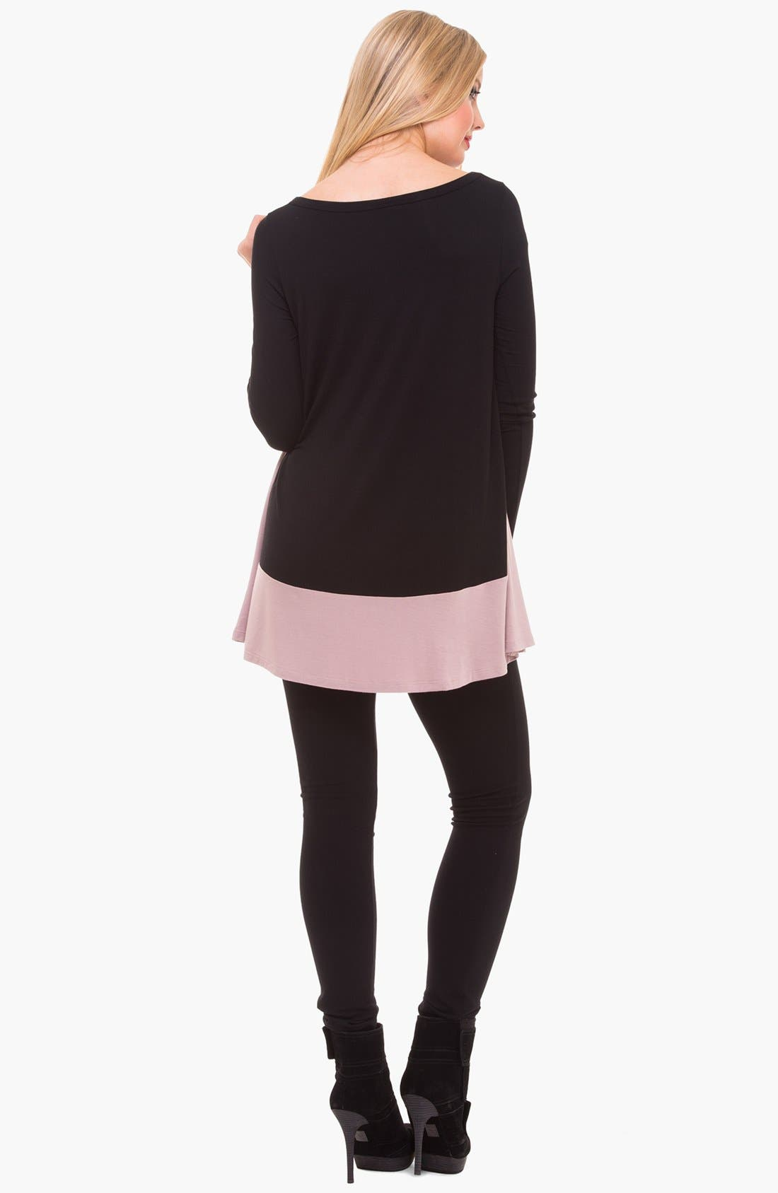 Alternate Image 2  - Olian Colorblock Maternity Tunic