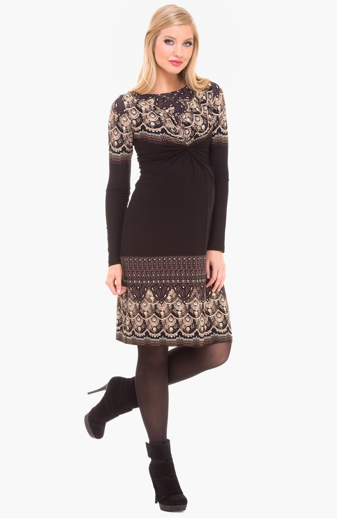 Alternate Image 2  - Olian Boatneck Maternity Dress