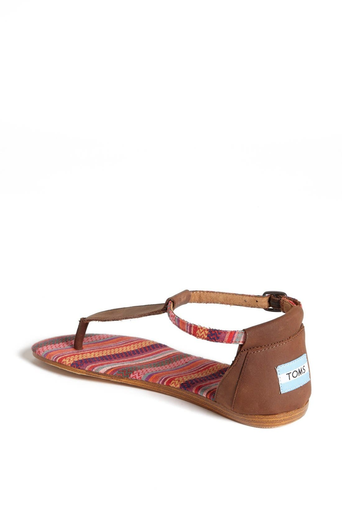 Alternate Image 2  - TOMS 'Playa' T-Strap Flat Sandal