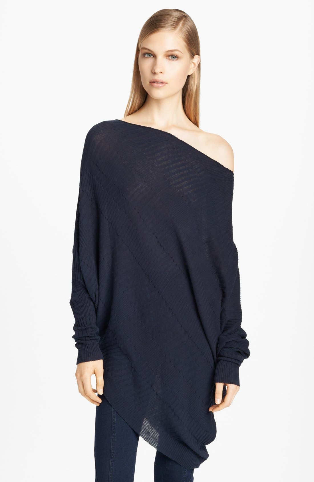 Main Image - Donna Karan Casual Luxe Twisted Asymmetrical Sweater