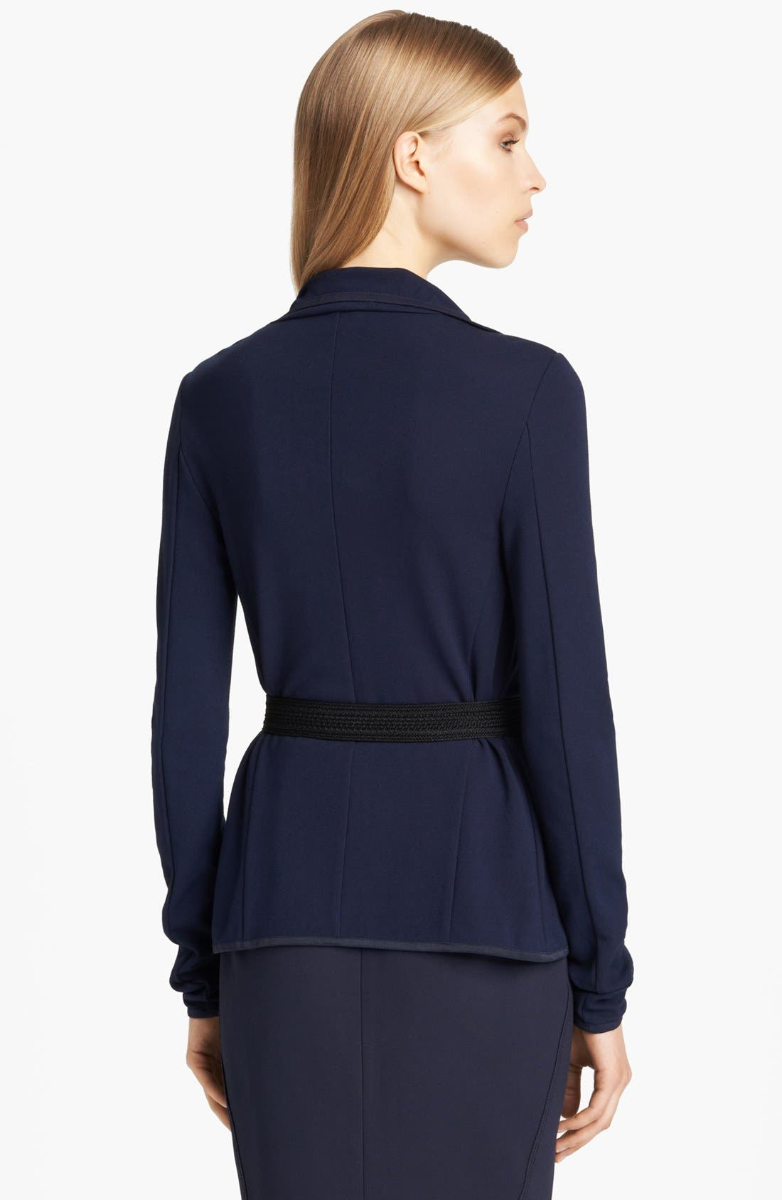Alternate Image 2  - Donna Karan Collection Lightweight Structured Jersey Jacket