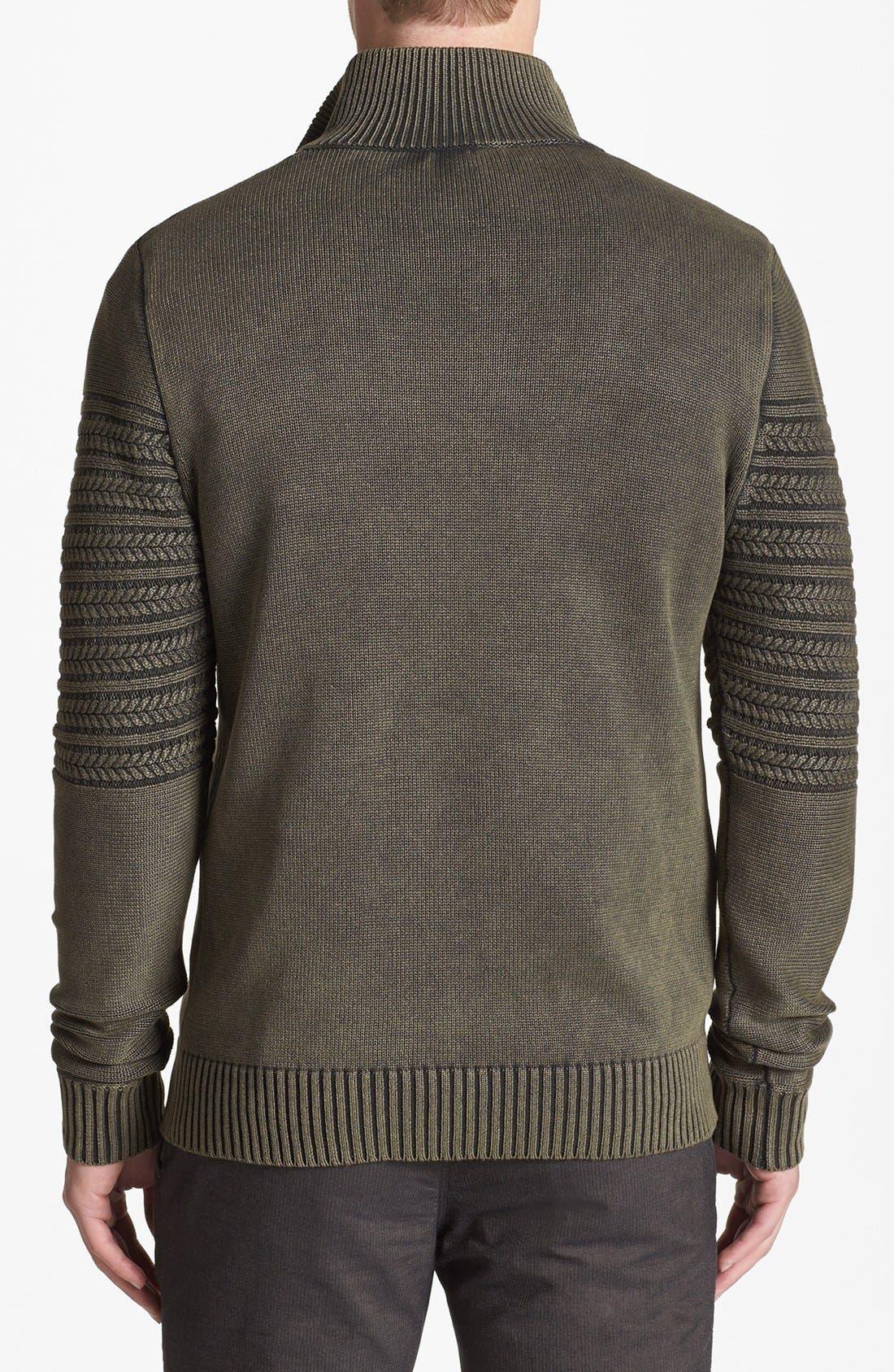 Alternate Image 2  - Vince Camuto Slim Fit Half Zip Sweater