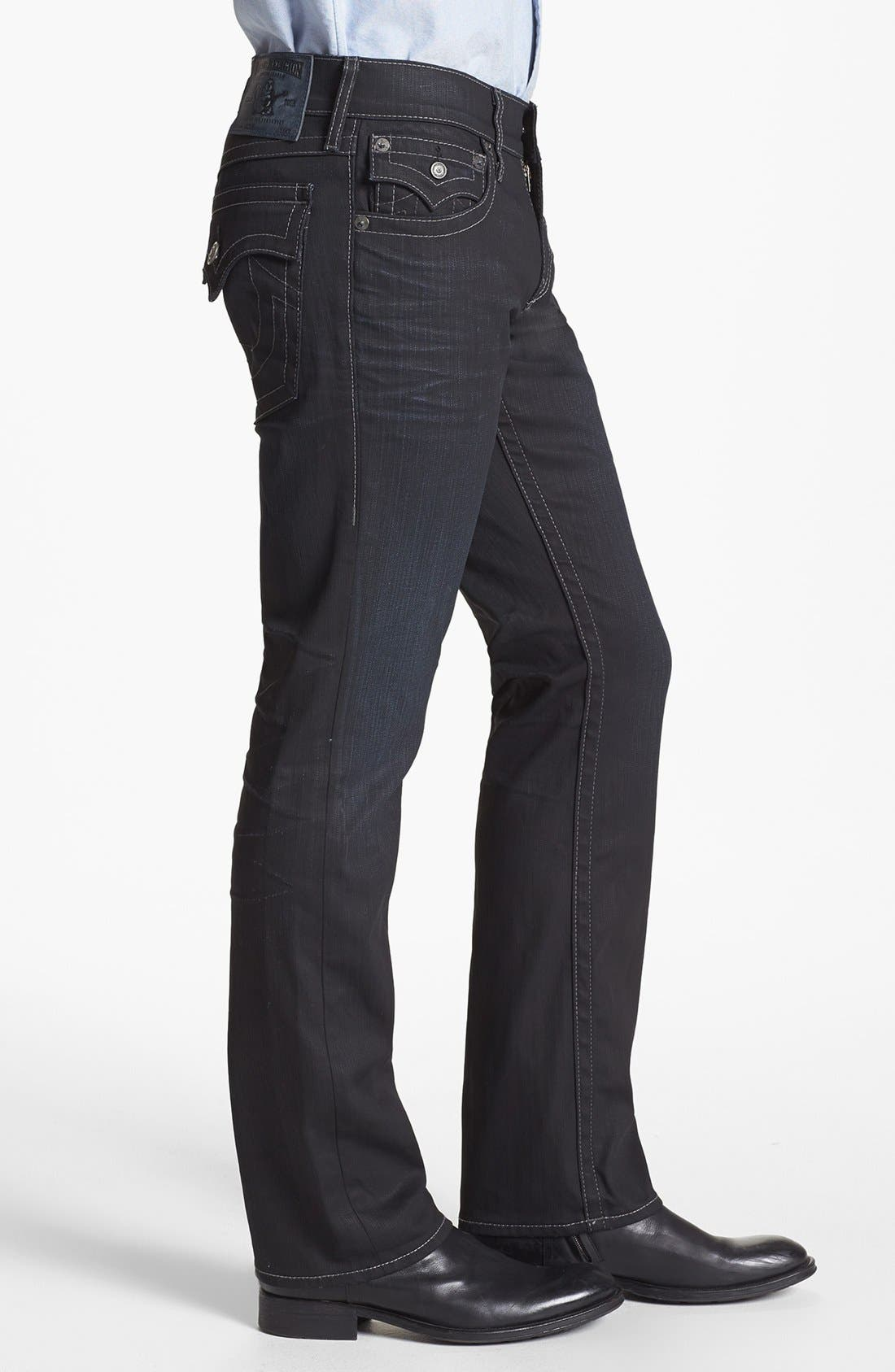 Alternate Image 3  - True Religion Brand Jeans 'Ricky' Coated Straight Leg Jeans (Gbd Black Rider)