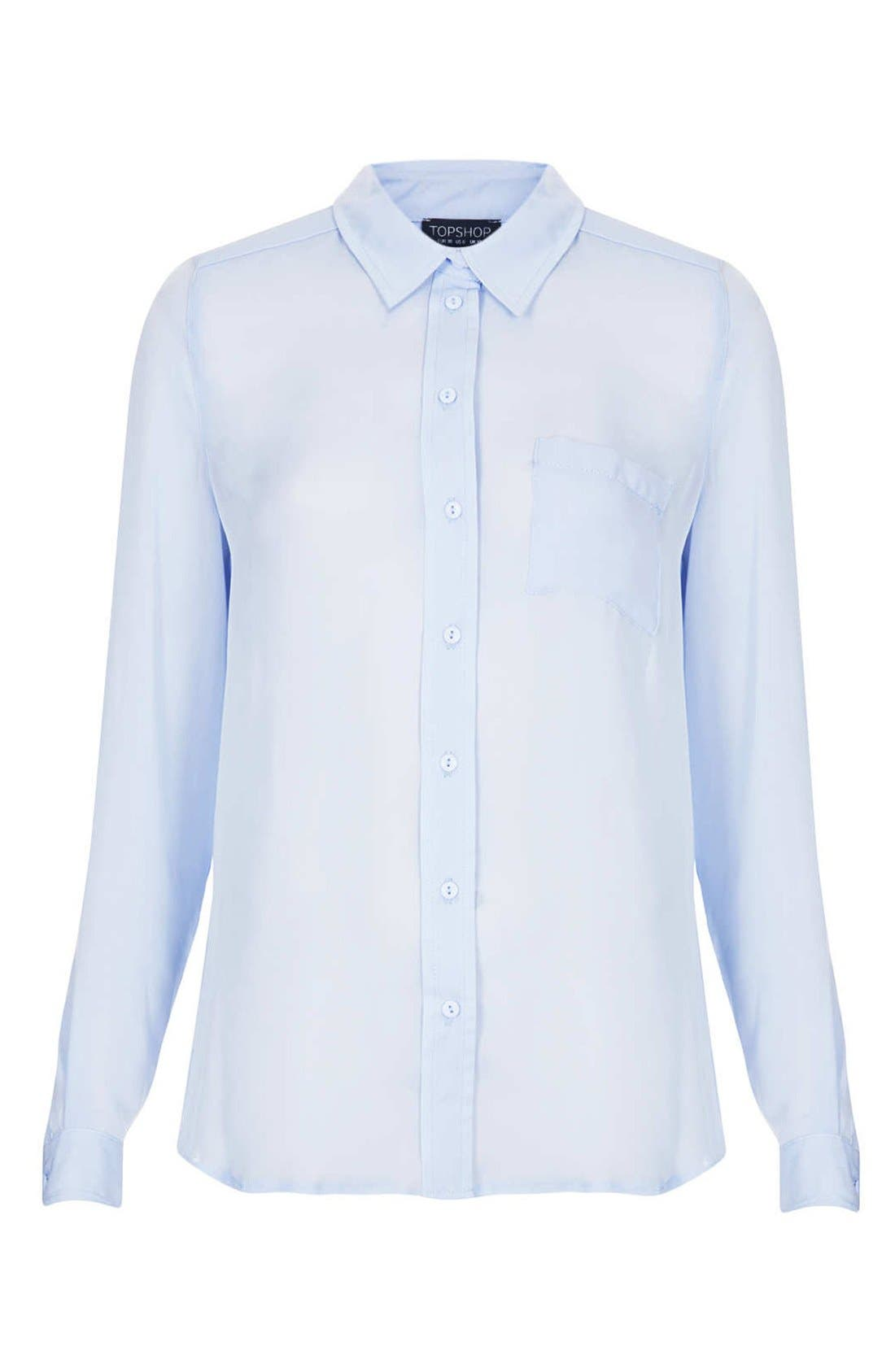Alternate Image 3  - Topshop Sheer Shirt