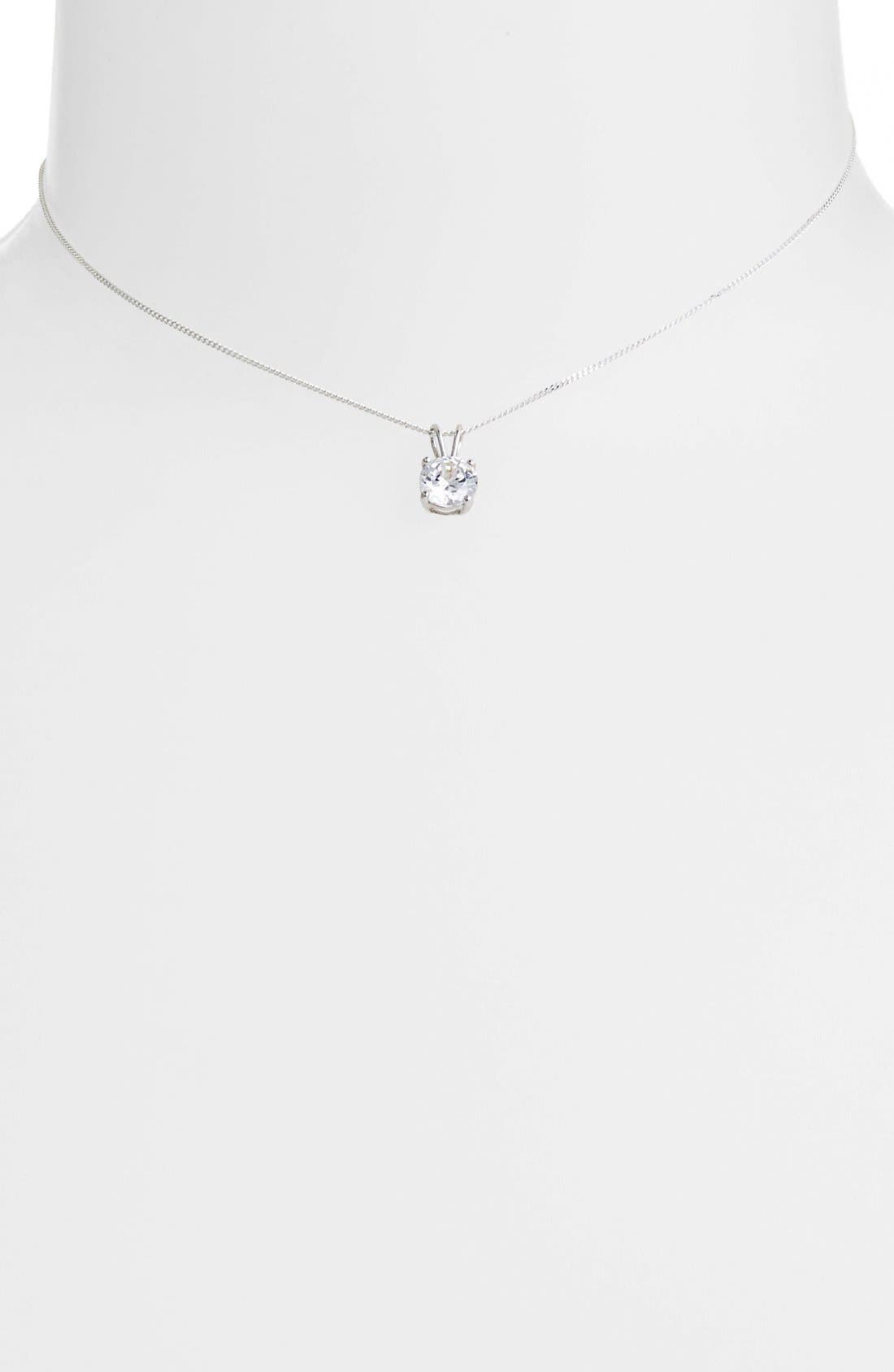 Alternate Image 1 Selected - Tomas Cubic Zirconia Sterling Silver Pendant Necklace (Juniors)