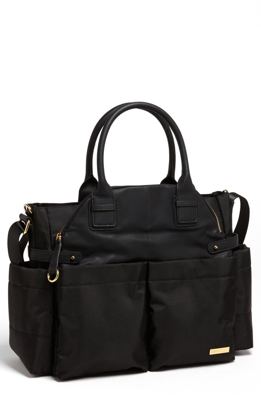 'Chelsea' Diaper Bag,                         Main,                         color, Black