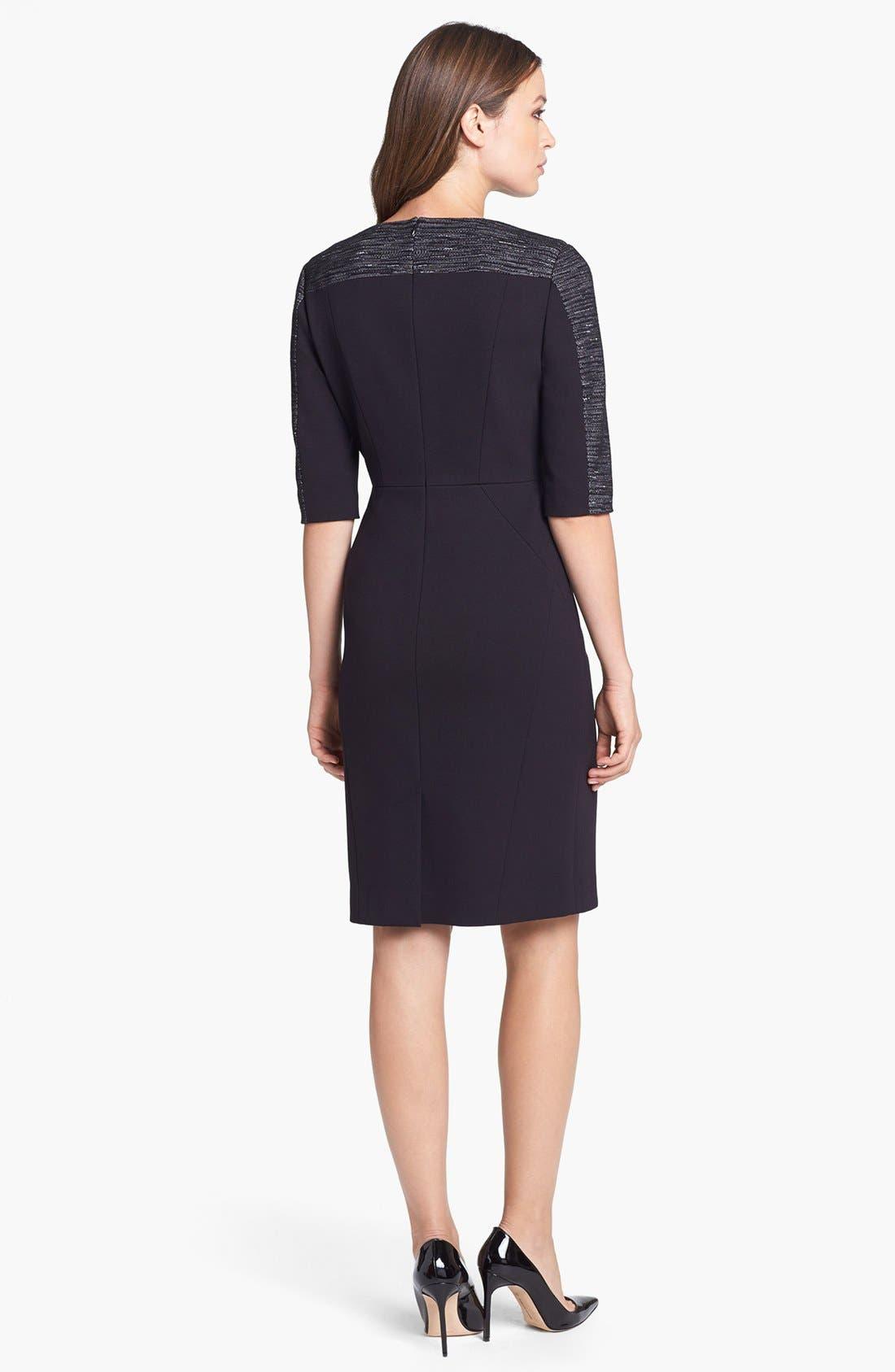 Alternate Image 2  - Classiques Entier® Mélange Ponte di Roma Zip Front Dress