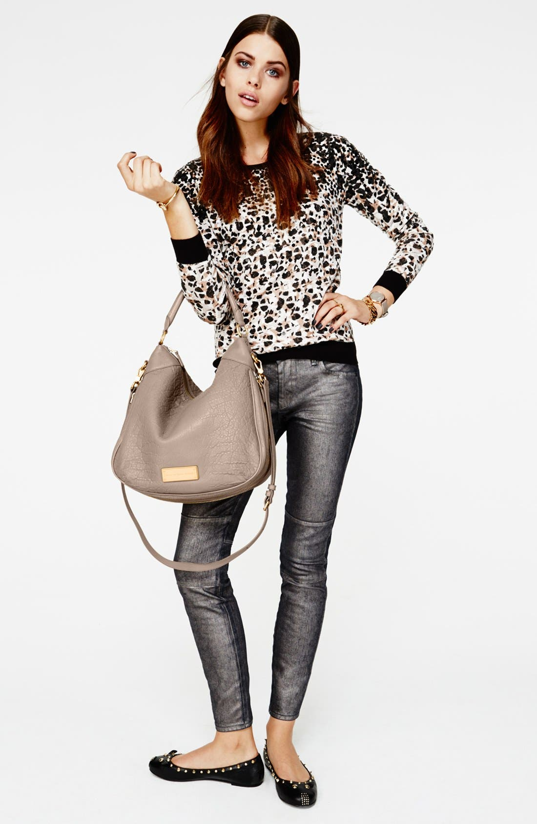 Alternate Image 4  - MARC BY MARC JACOBS Seamed Cigarette Leg Jeans (Gunmetal)