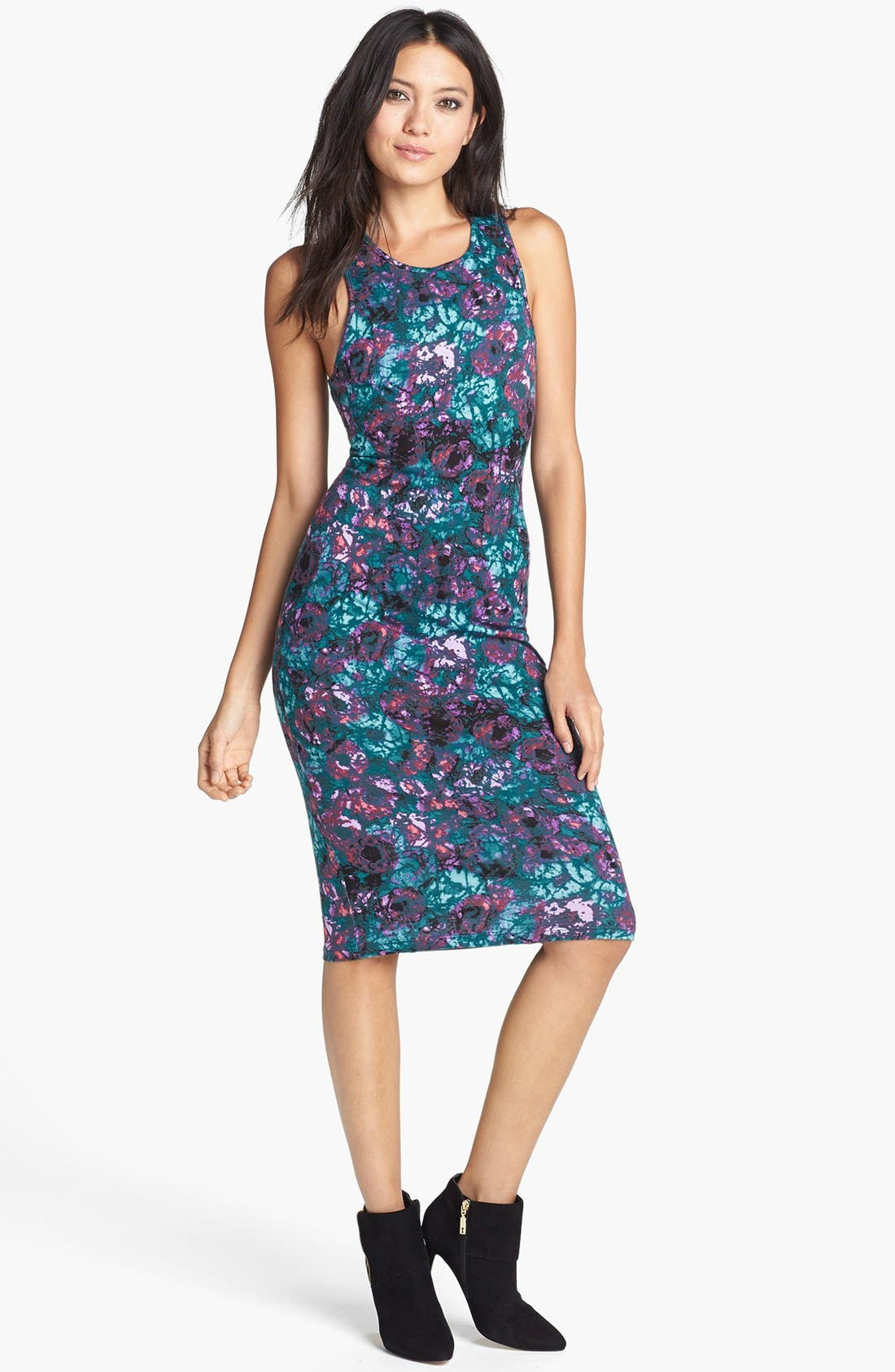 Alternate Image 1 Selected - Wayf Print Body-Con Tank Dress